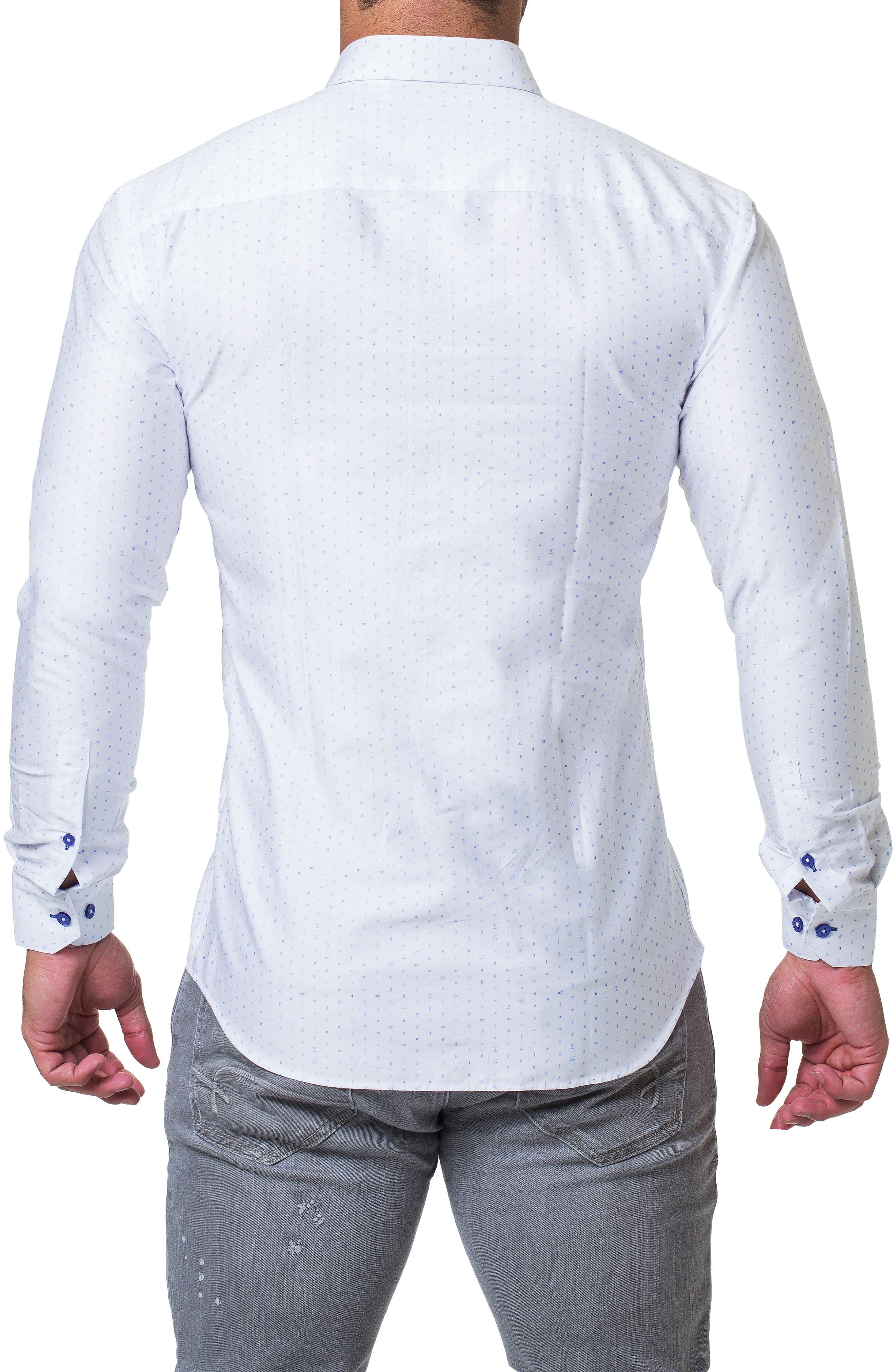 Fibonacci Math Trim Fit Print Sport Shirt,                             Alternate thumbnail 2, color,                             110