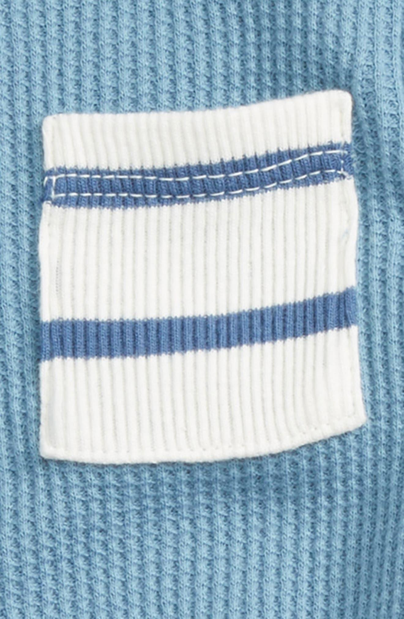 Waffle Knit Bodysuit & Pants Set,                             Alternate thumbnail 2, color,                             450