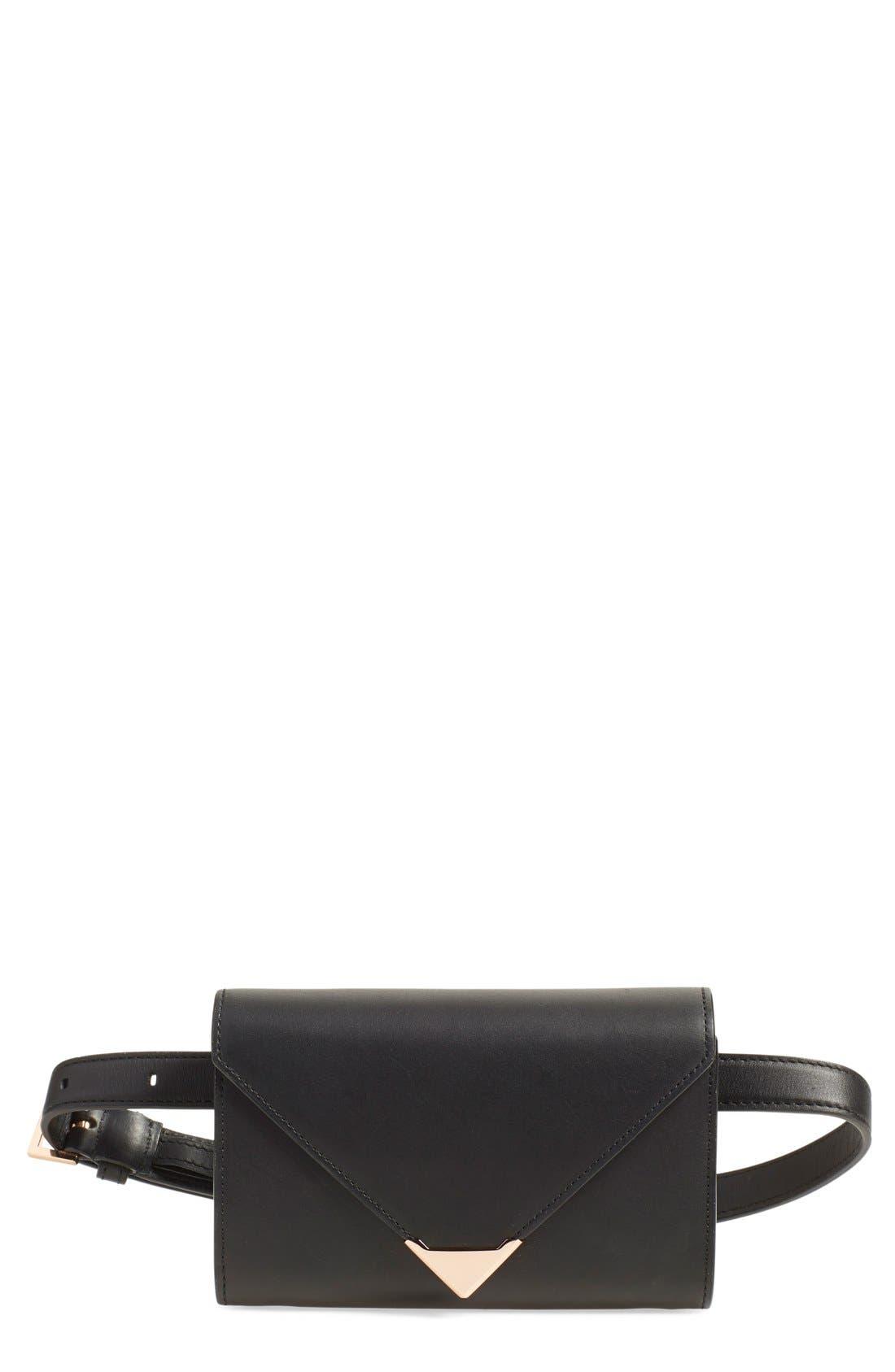 'Prisma' Leather Belt Bag,                             Main thumbnail 1, color,                             001