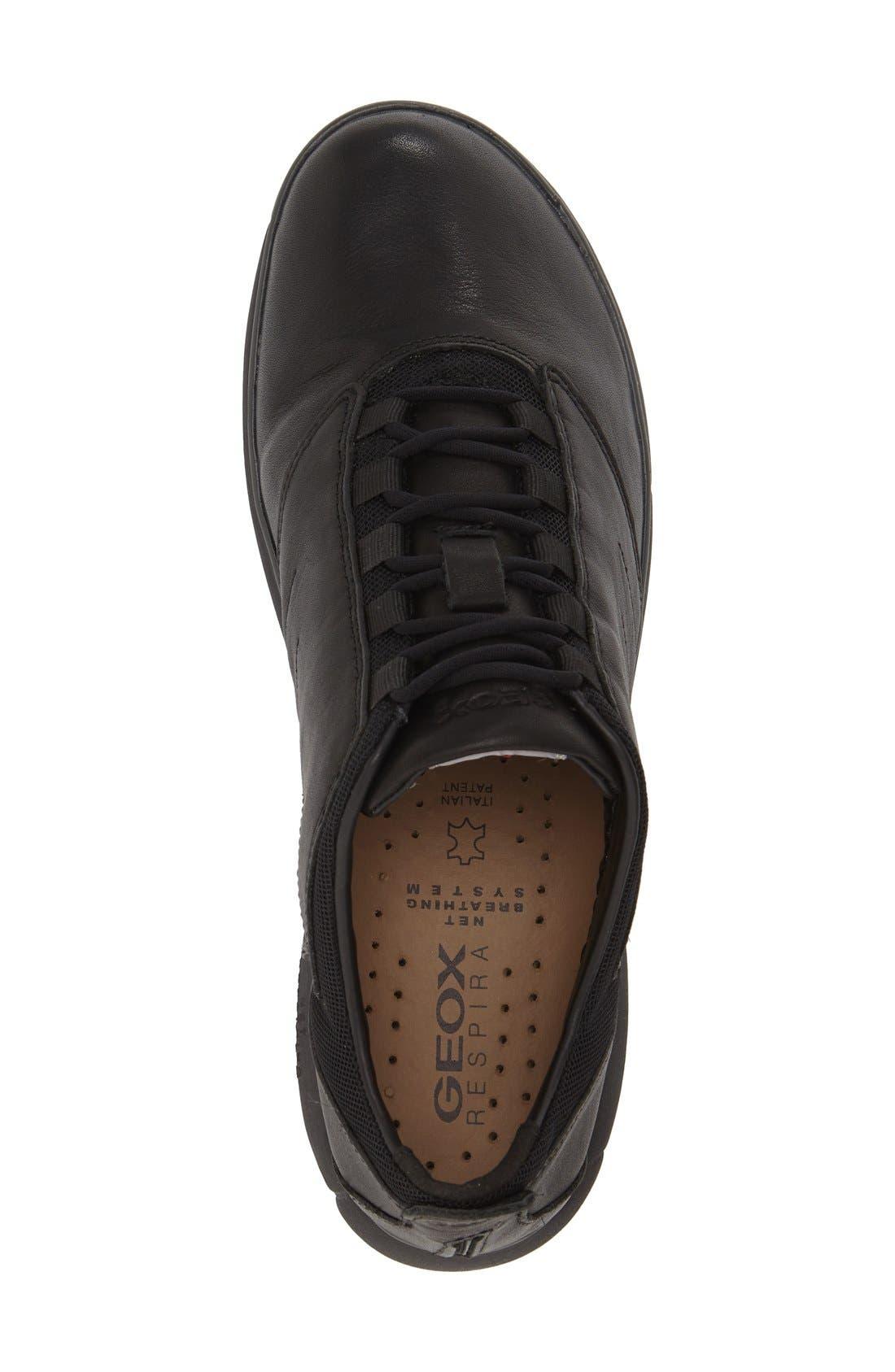 Nebula 11 Sneaker,                             Alternate thumbnail 3, color,                             BLACK OILY LEATHER