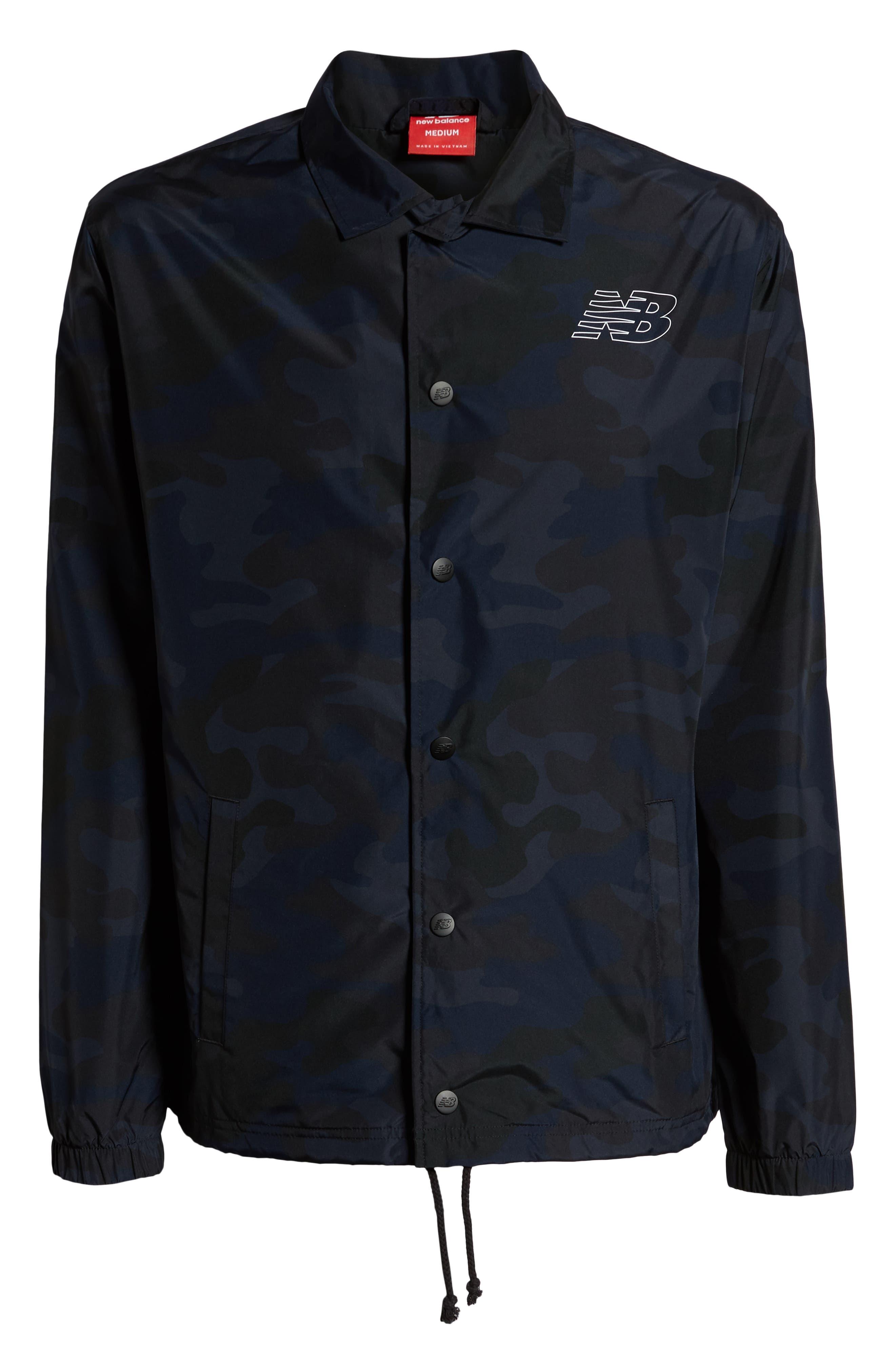Classic Coach's Jacket,                             Alternate thumbnail 6, color,                             BLACK MULTI