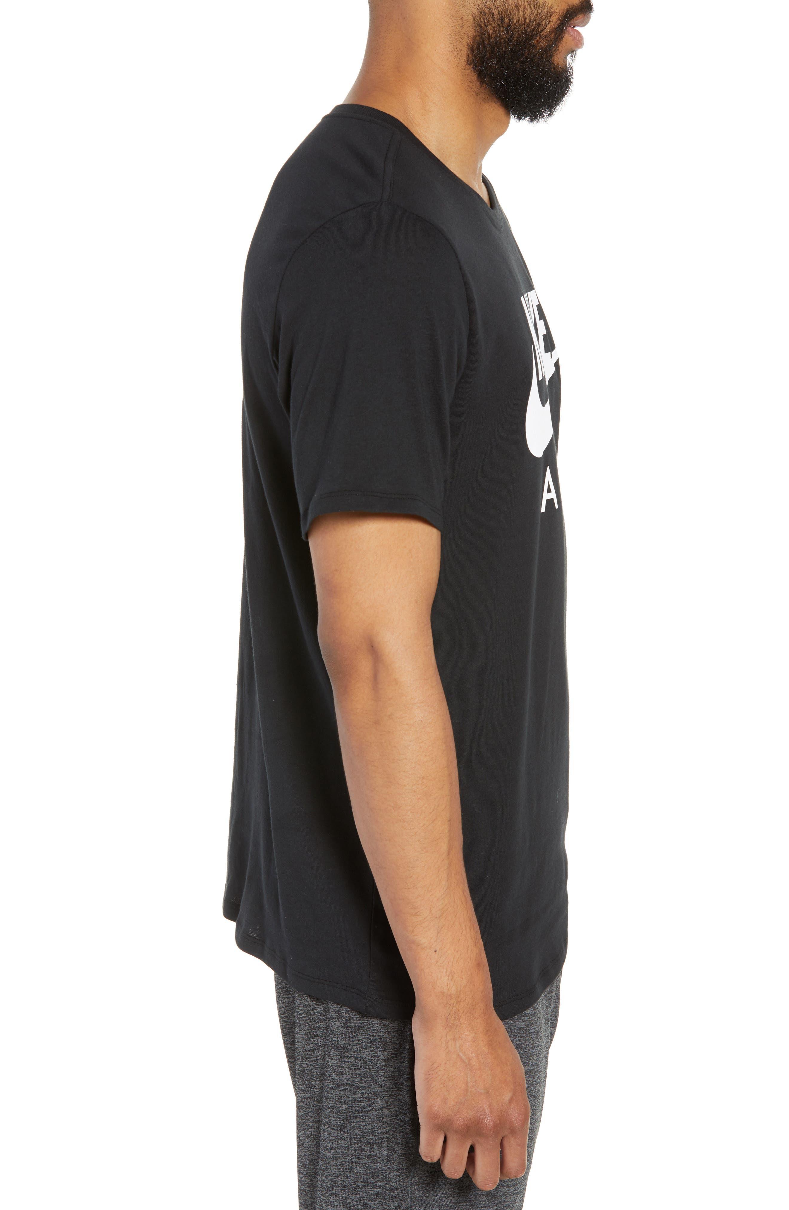 NSW Air 3 Crewneck T-Shirt,                             Alternate thumbnail 3, color,                             BLACK/ WHITE