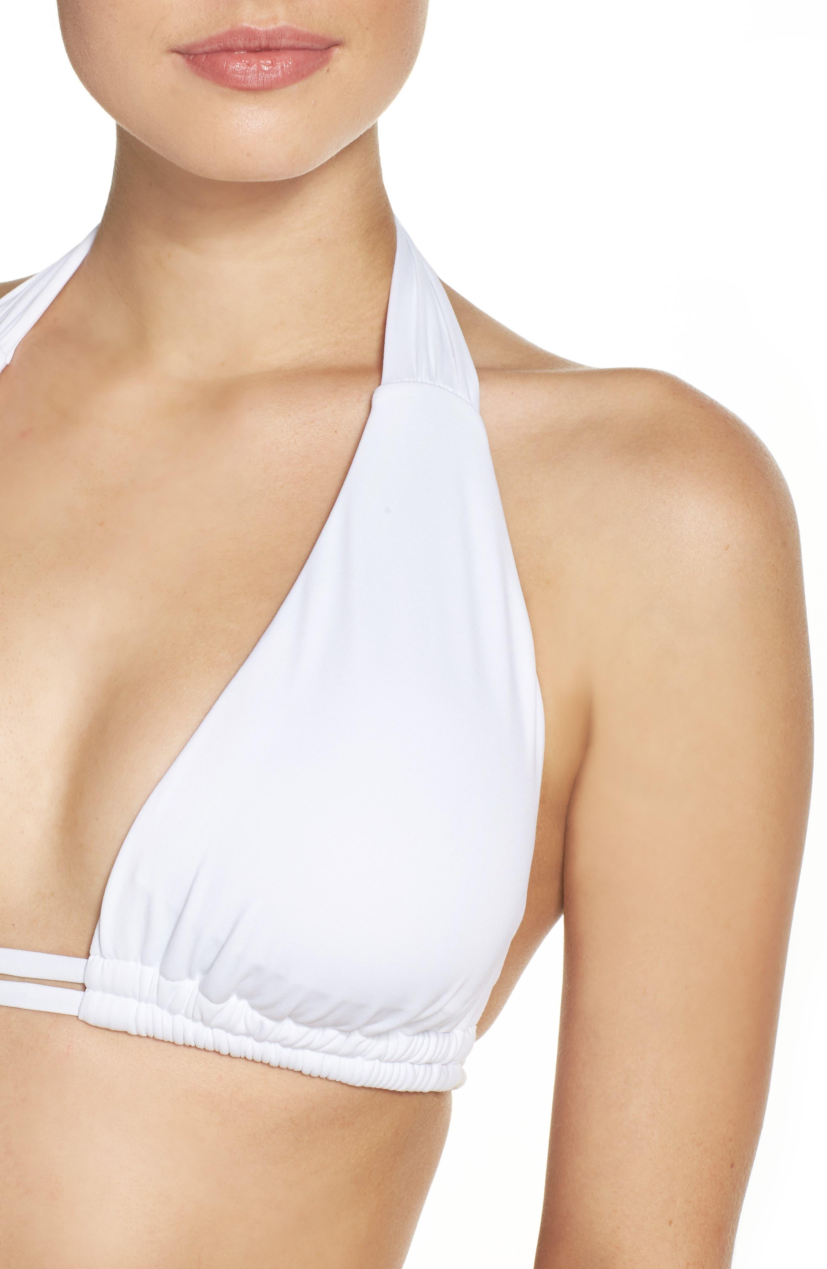 Color Code Halter Bikini Top,                             Alternate thumbnail 4, color,                             100