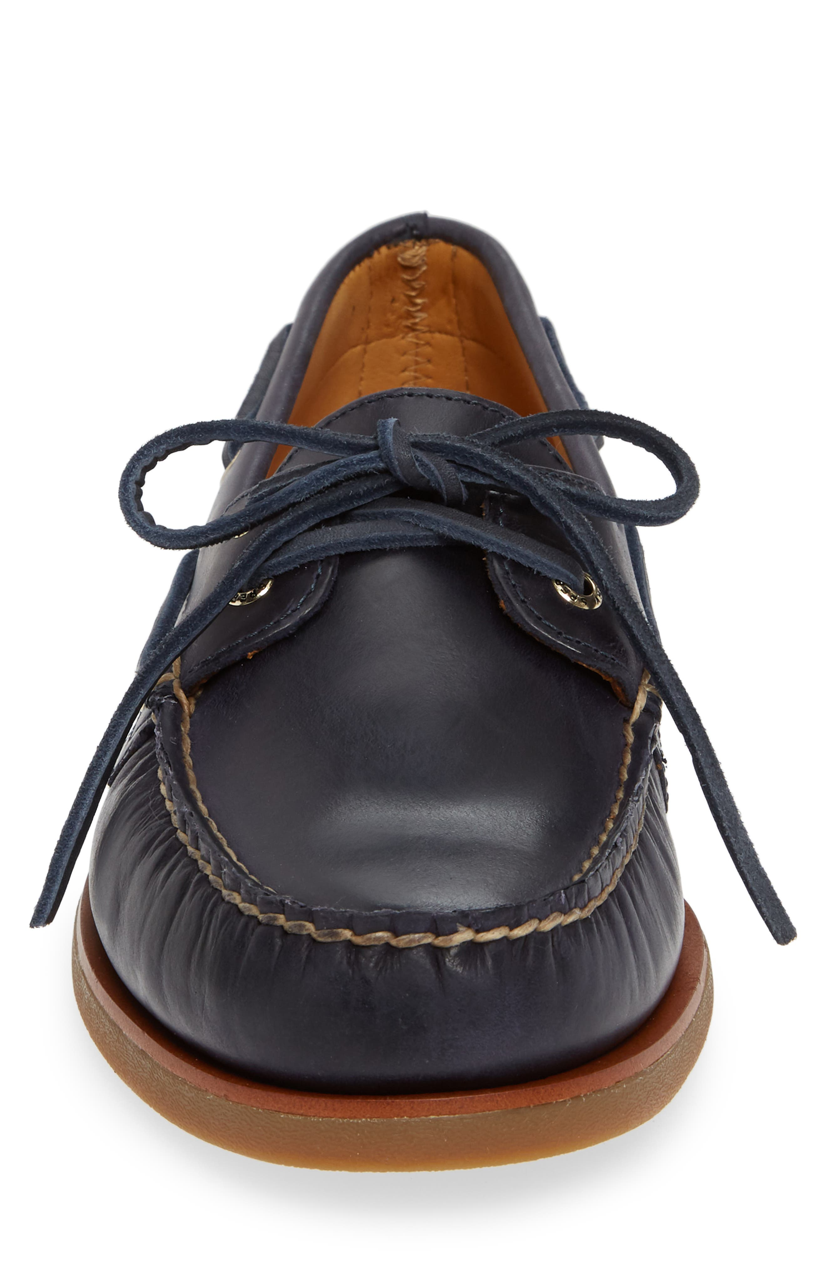 Gold Cup Boat Shoe,                             Alternate thumbnail 4, color,                             NAVY/ GUM