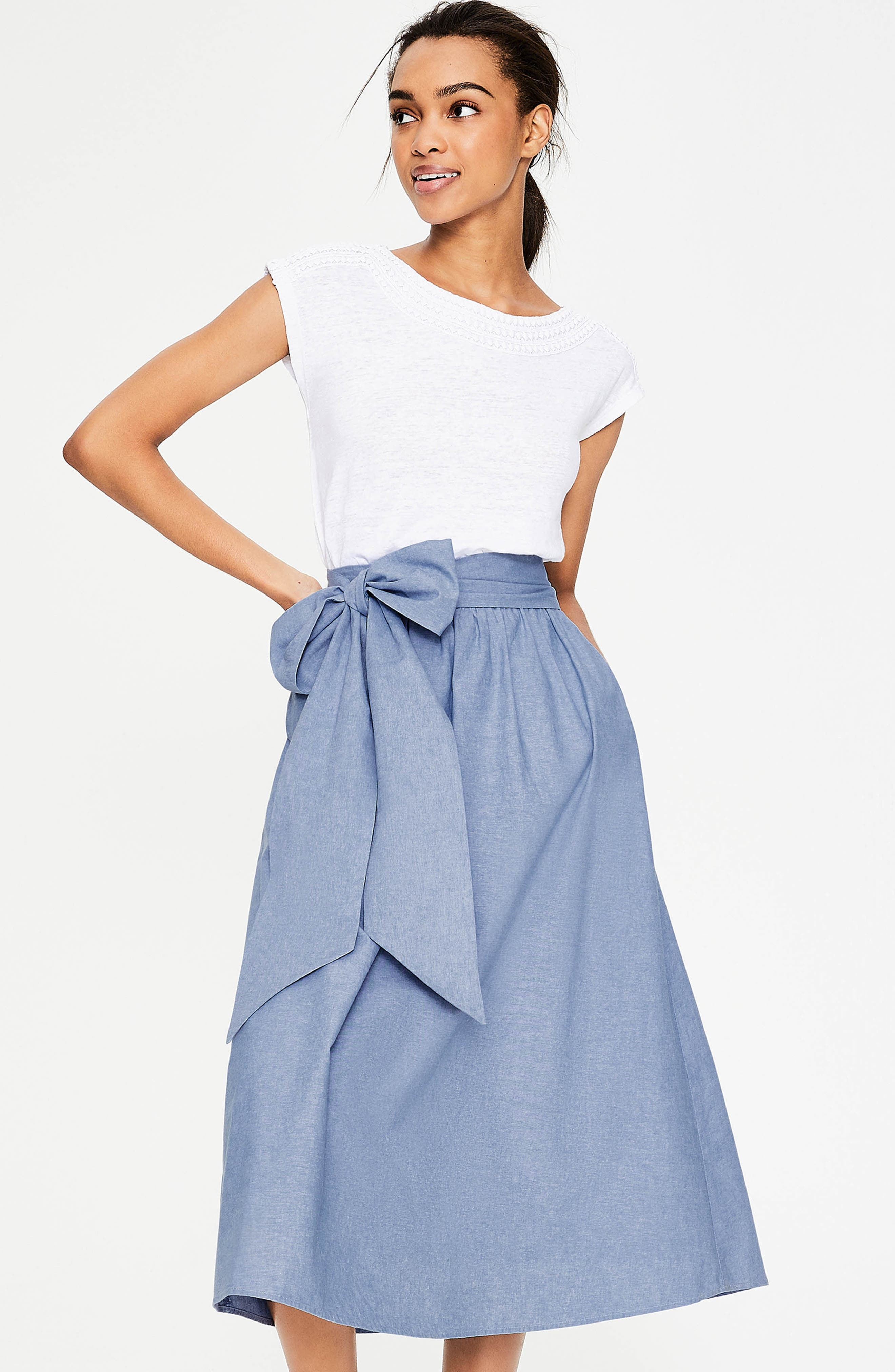 Kiera Midi Skirt,                             Alternate thumbnail 6, color,                             469