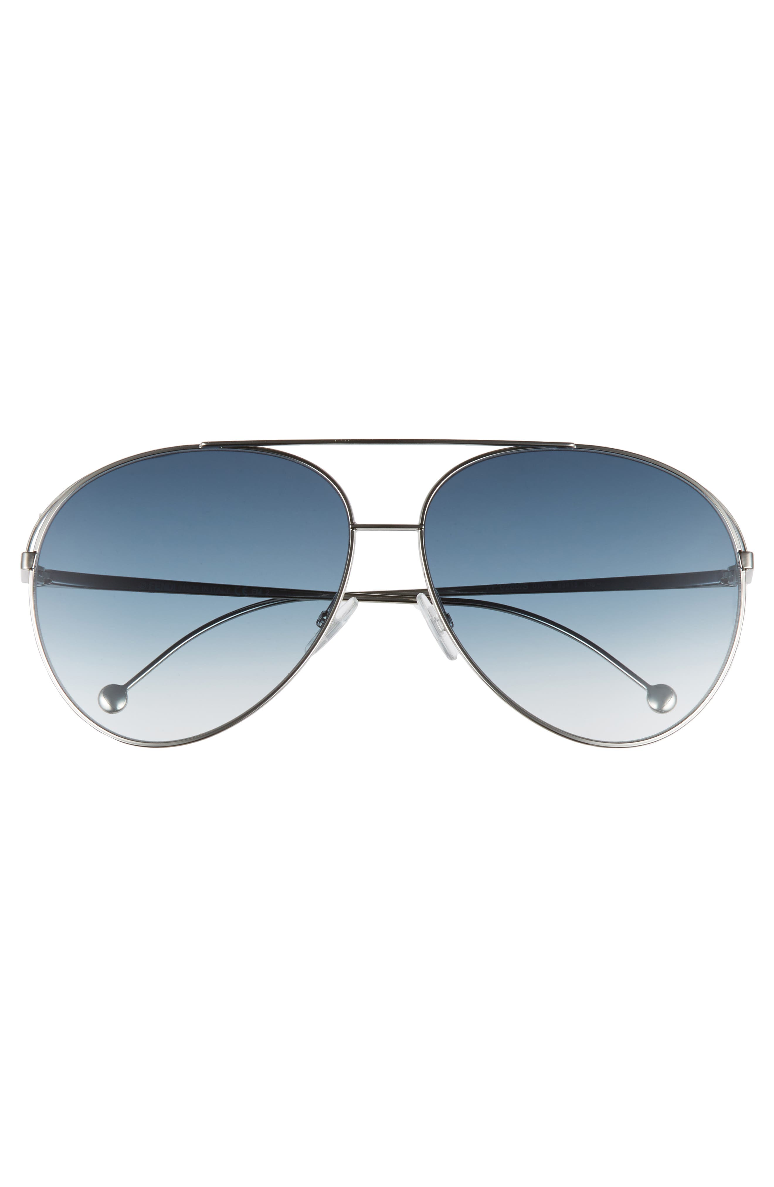 52mm Aviator Sunglasses,                             Alternate thumbnail 3, color,                             PALLADIUM