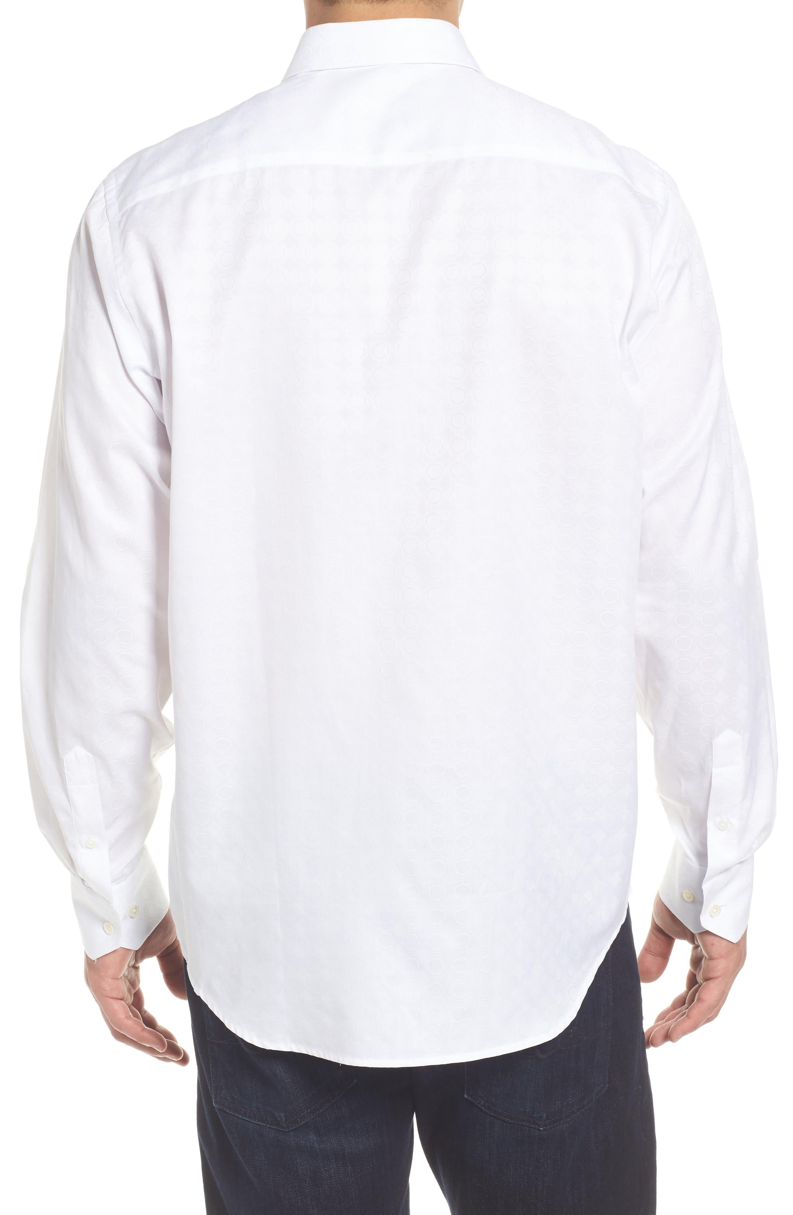 Classic Fit Tonal Circles Sport Shirt,                             Alternate thumbnail 2, color,                             100