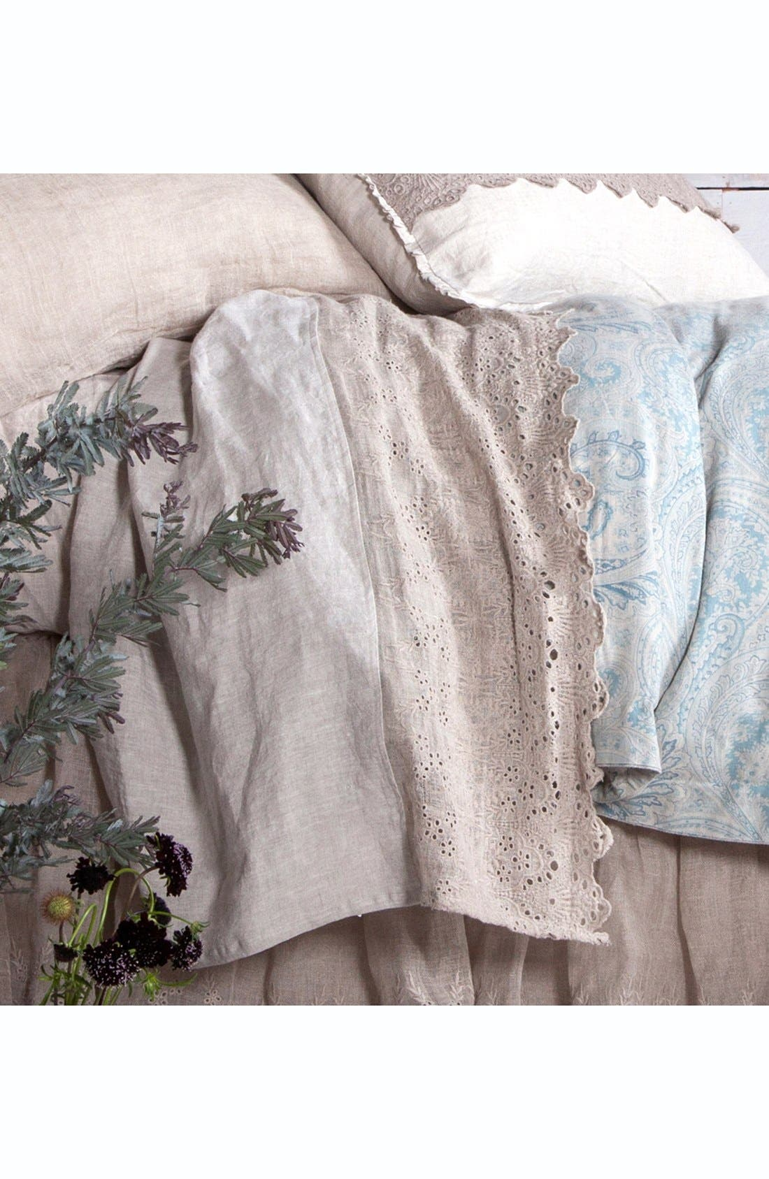 'Annabelle' Linen Flat Sheet,                             Alternate thumbnail 3, color,                             281