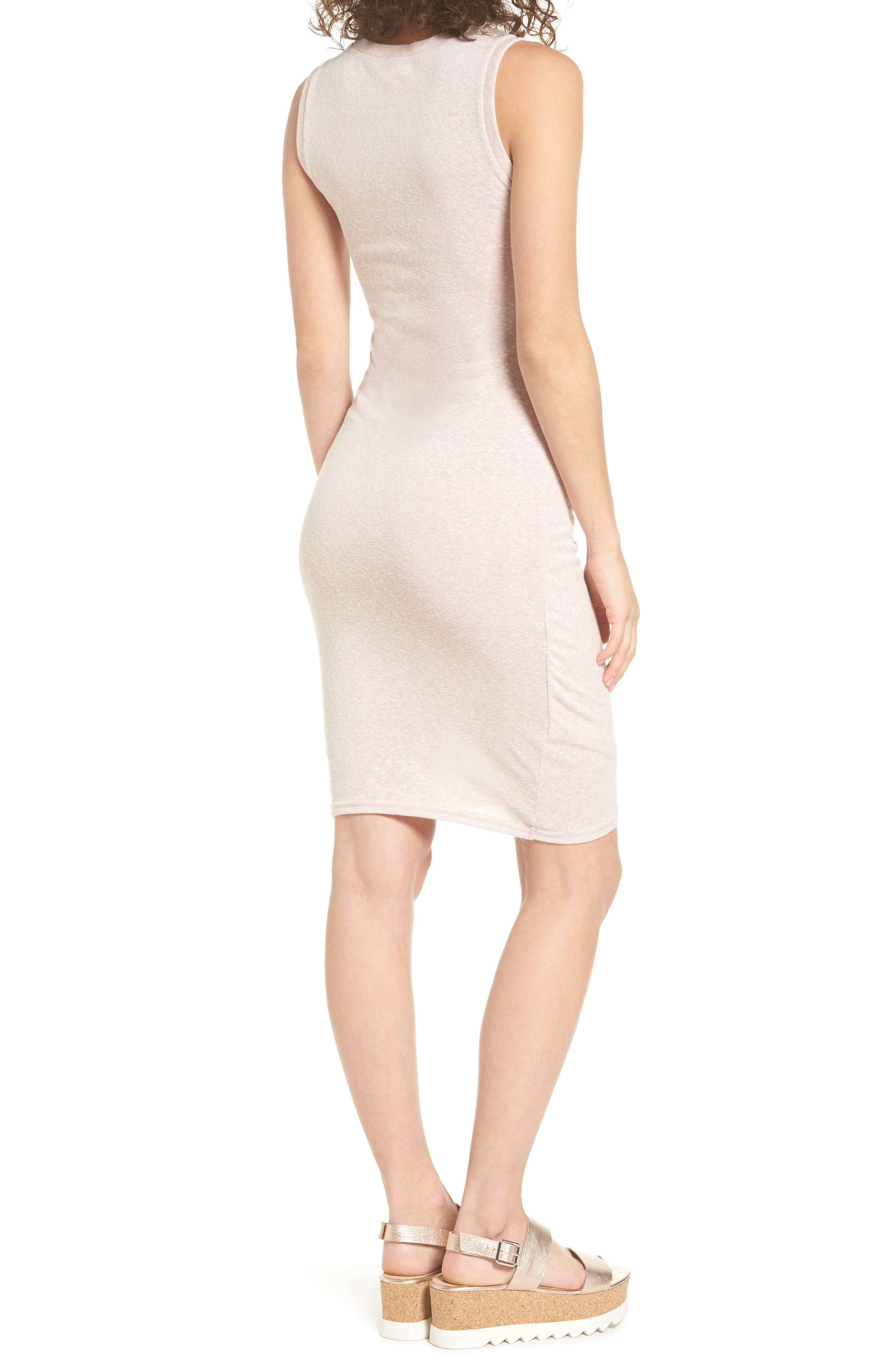 Ruched Body-Con Tank Dress,                             Alternate thumbnail 68, color,