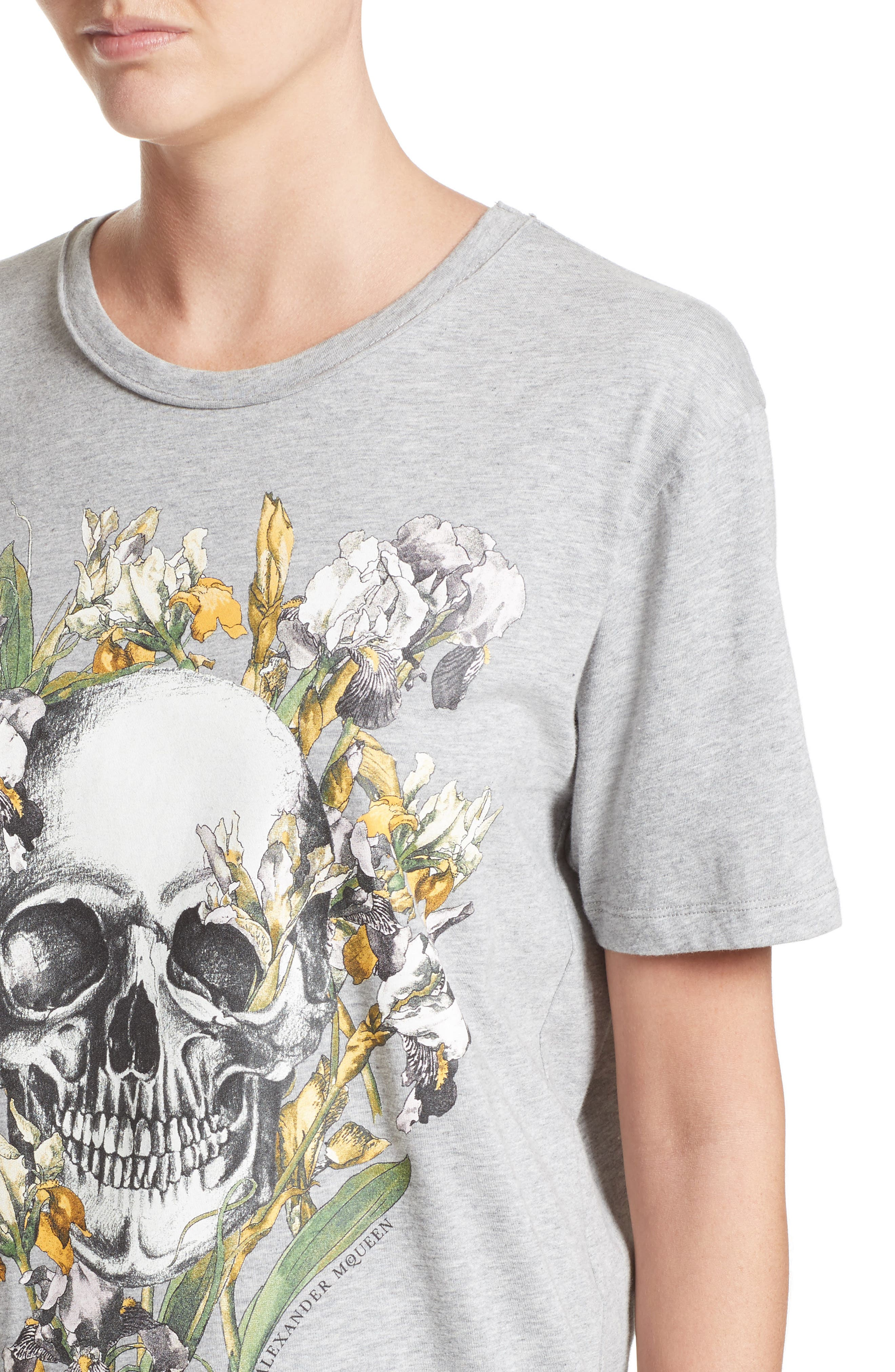 Skull & Iris Graphic Tee,                             Alternate thumbnail 4, color,                             030