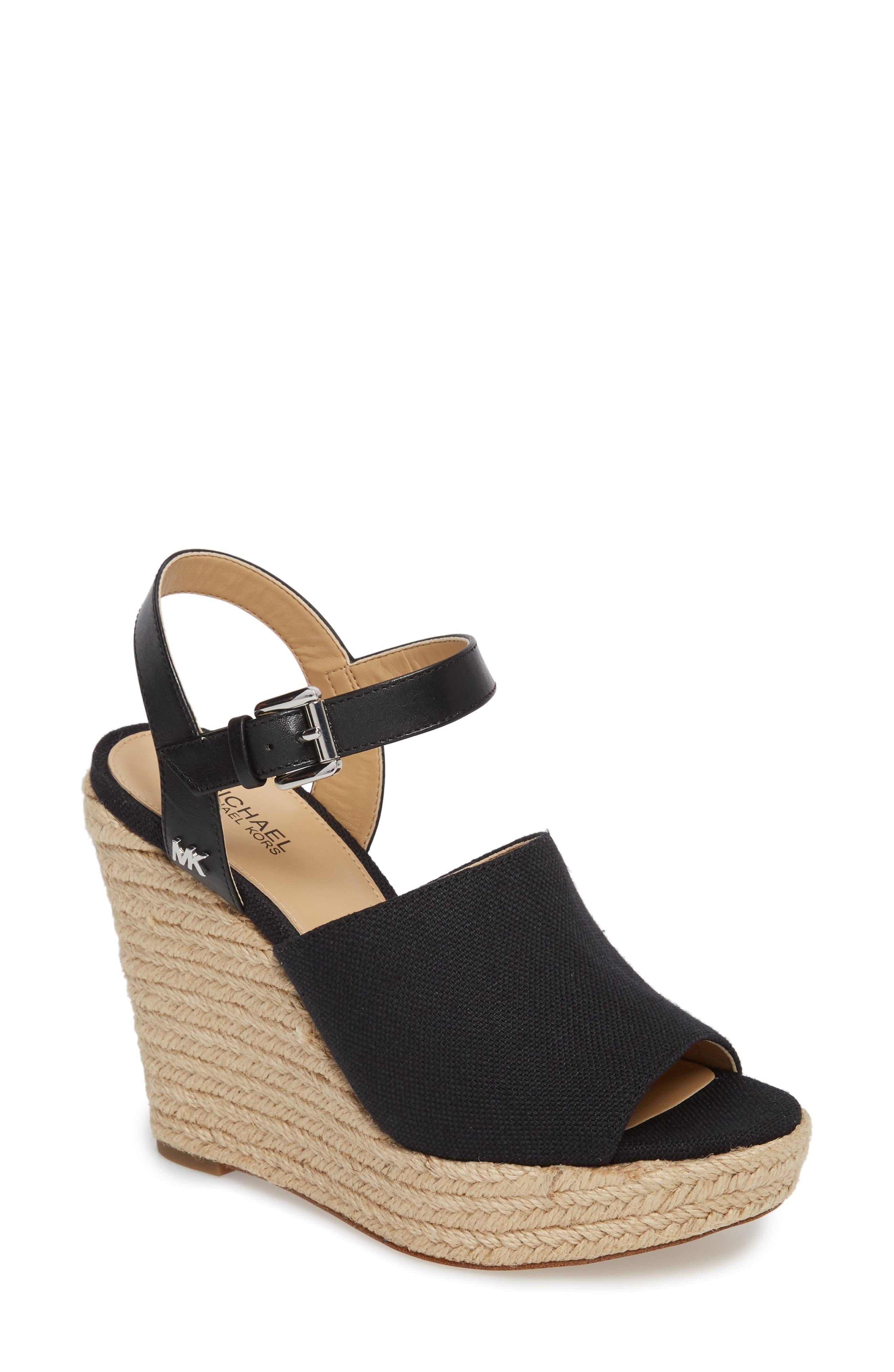 Penelope Espadrille Wedge Sandal,                         Main,                         color, 001