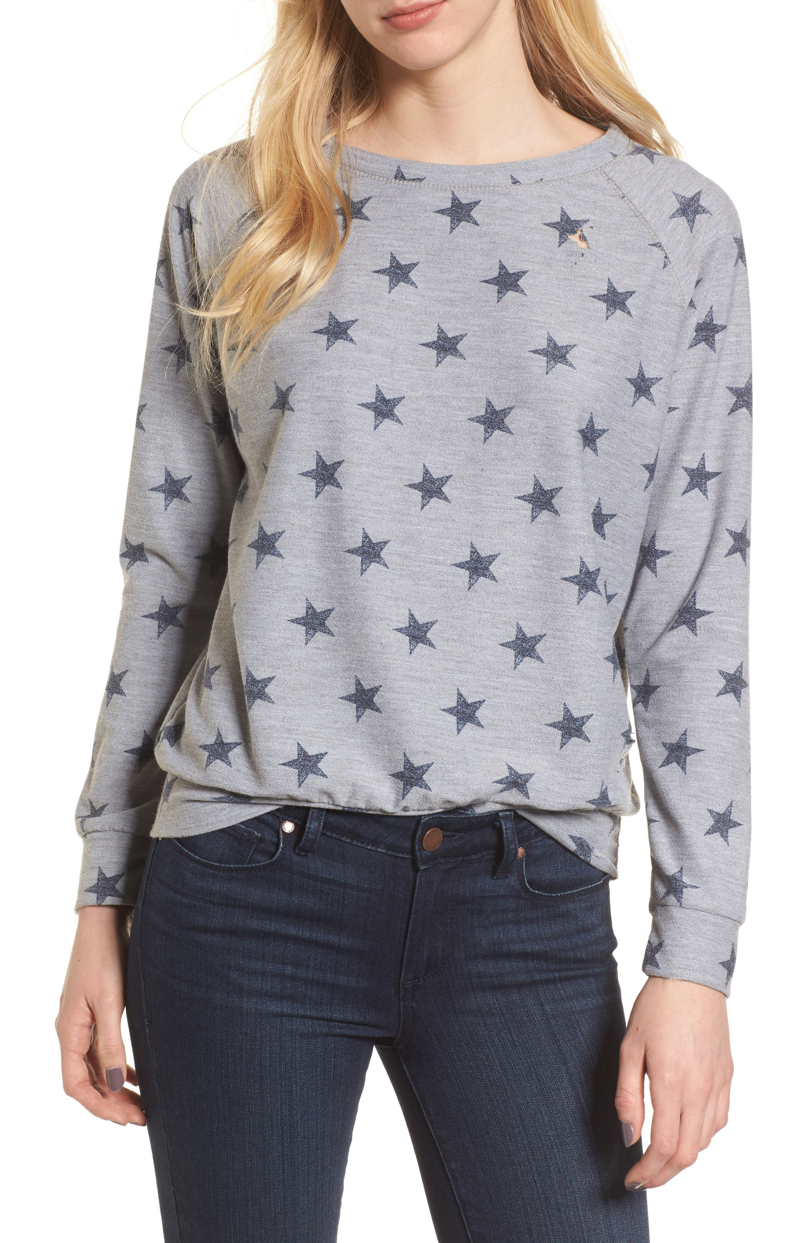 All Over Stars Pullover,                             Main thumbnail 1, color,                             020