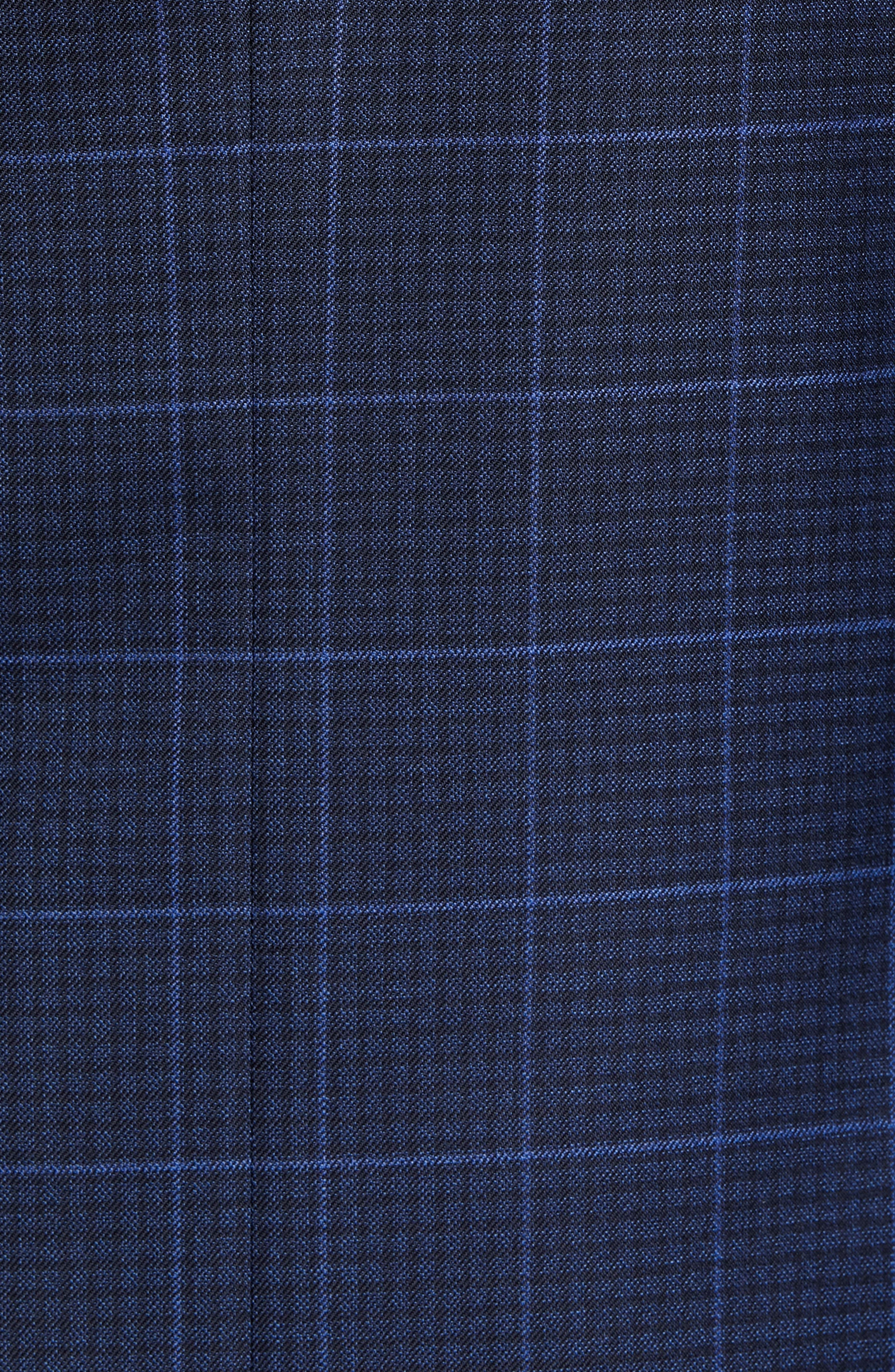 Flynn Classic Fit Plaid Check Sport Coat,                             Alternate thumbnail 6, color,                             NAVY