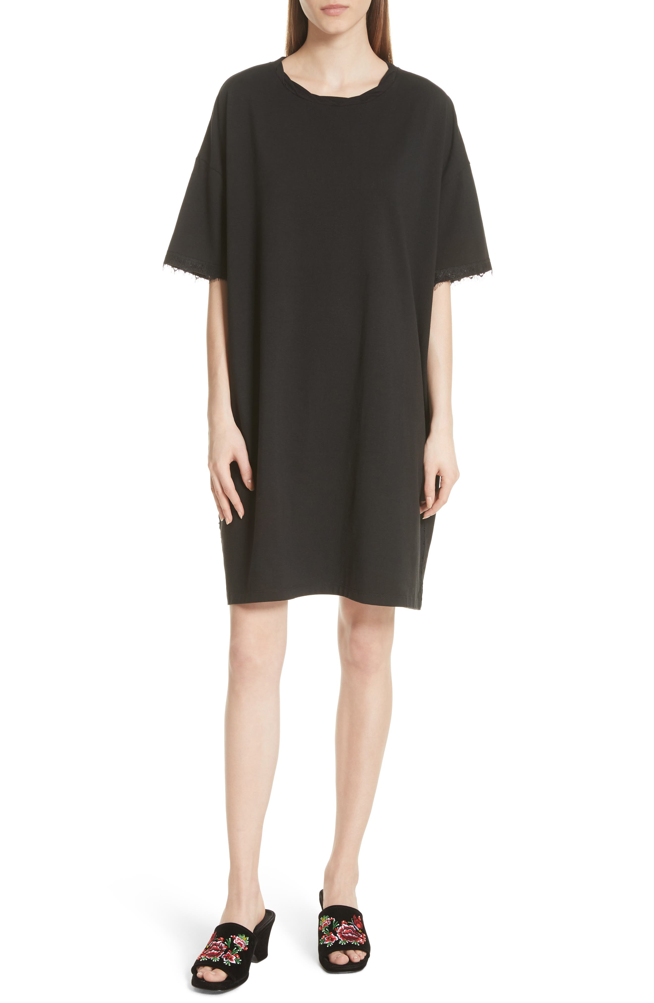 OPENING CEREMONY,                             Hook-and-Eye T-Shirt Dress,                             Main thumbnail 1, color,                             014