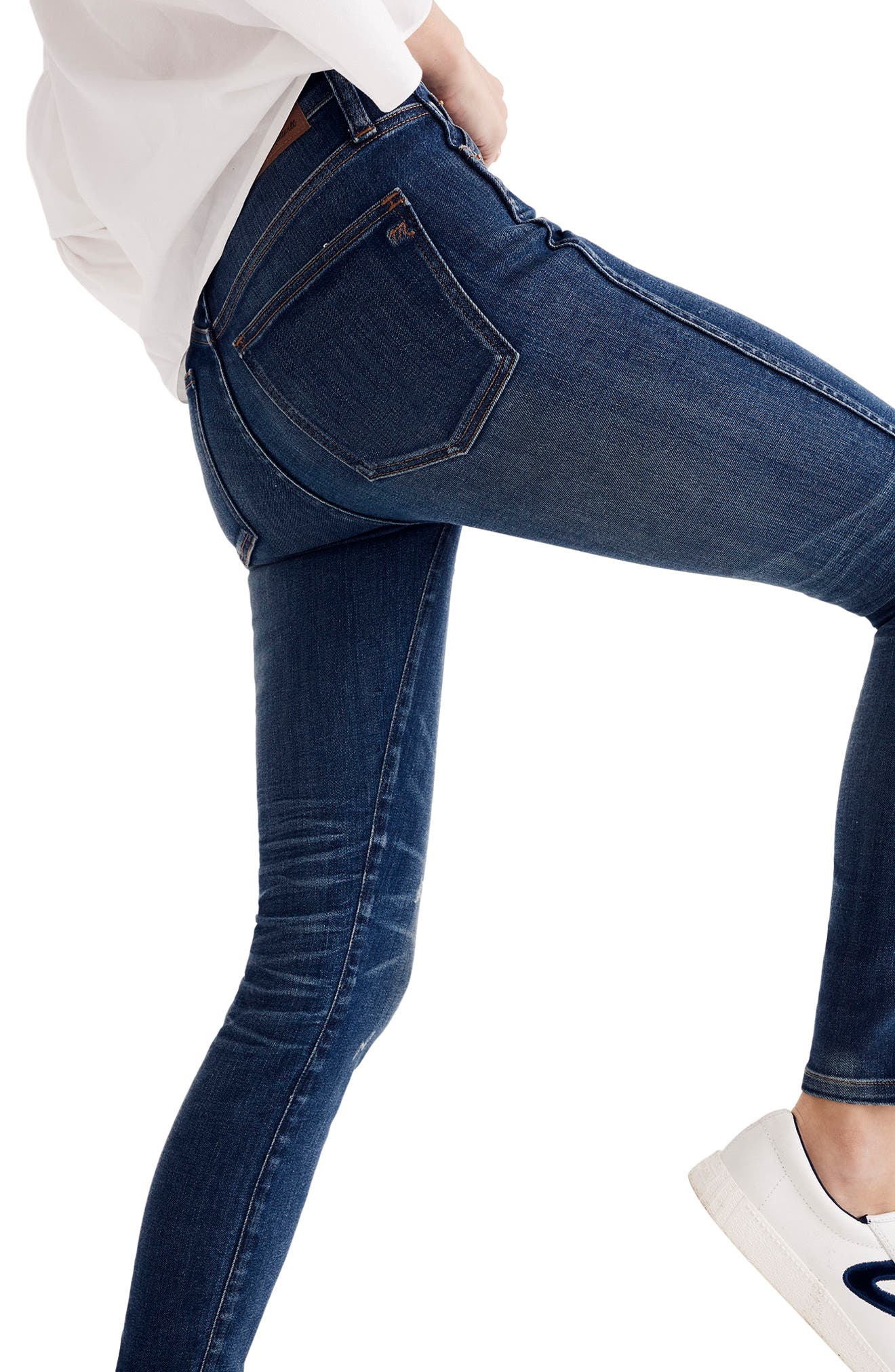 9-Inch High Waist Skinny Jeans,                             Alternate thumbnail 2, color,                             403
