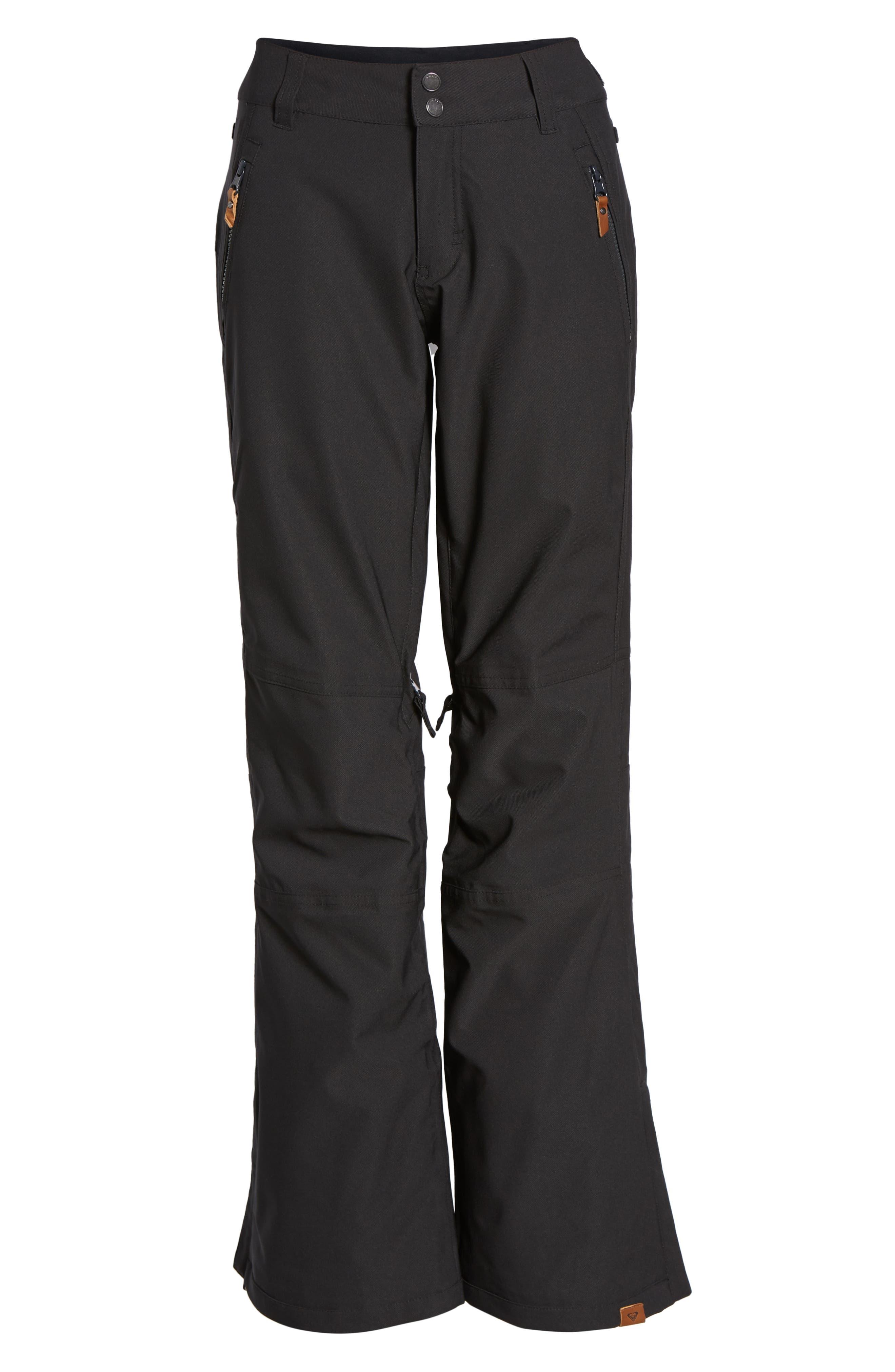 ROXY,                             Cabin Snow Pants,                             Alternate thumbnail 4, color,                             002
