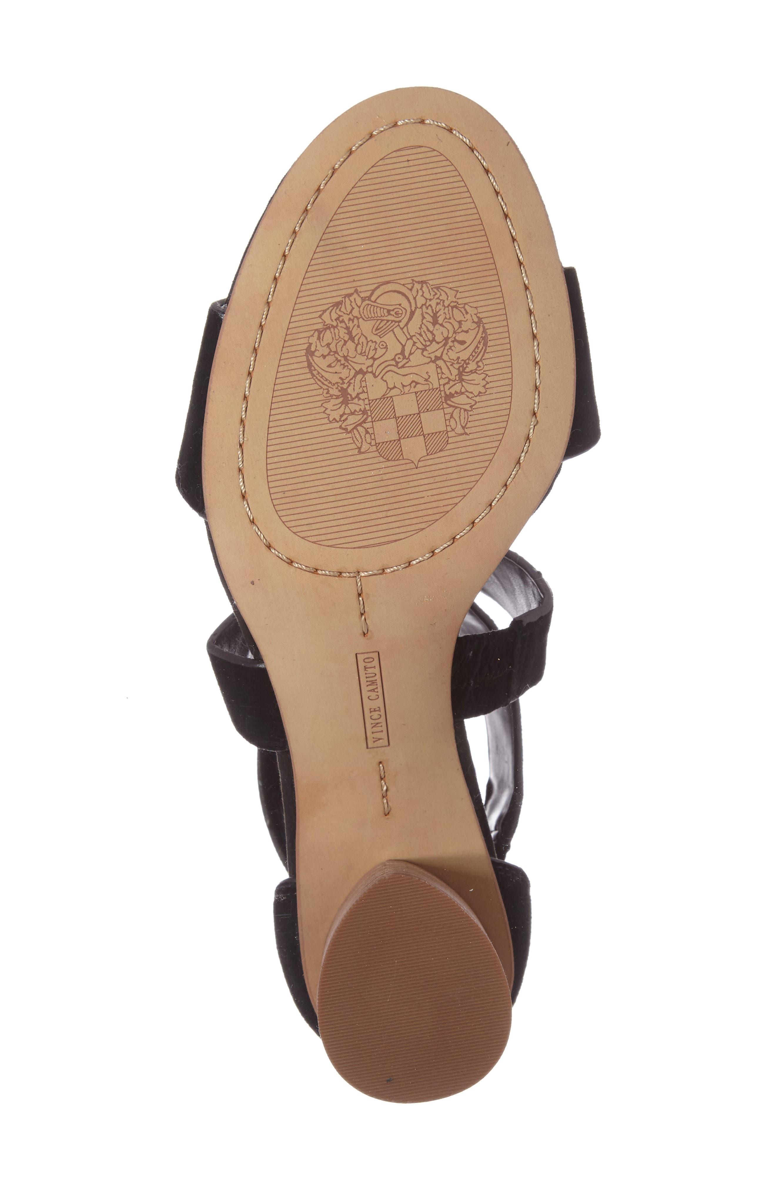 Jeneve Block Heel Sandal,                             Alternate thumbnail 4, color,                             001