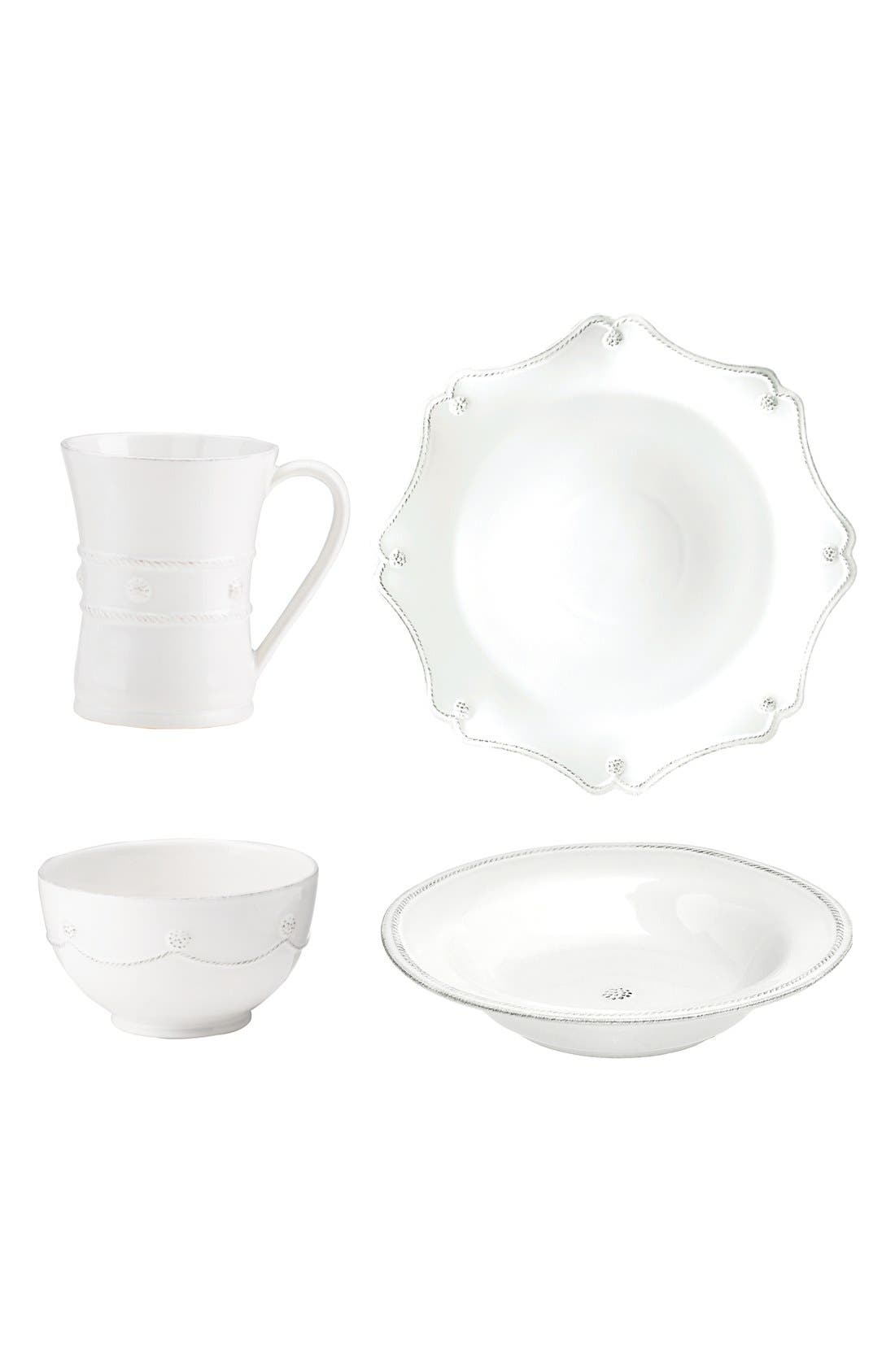 'Berry and Thread' 4-Piece Dinnerware Add-On Set,                             Main thumbnail 1, color,                             100