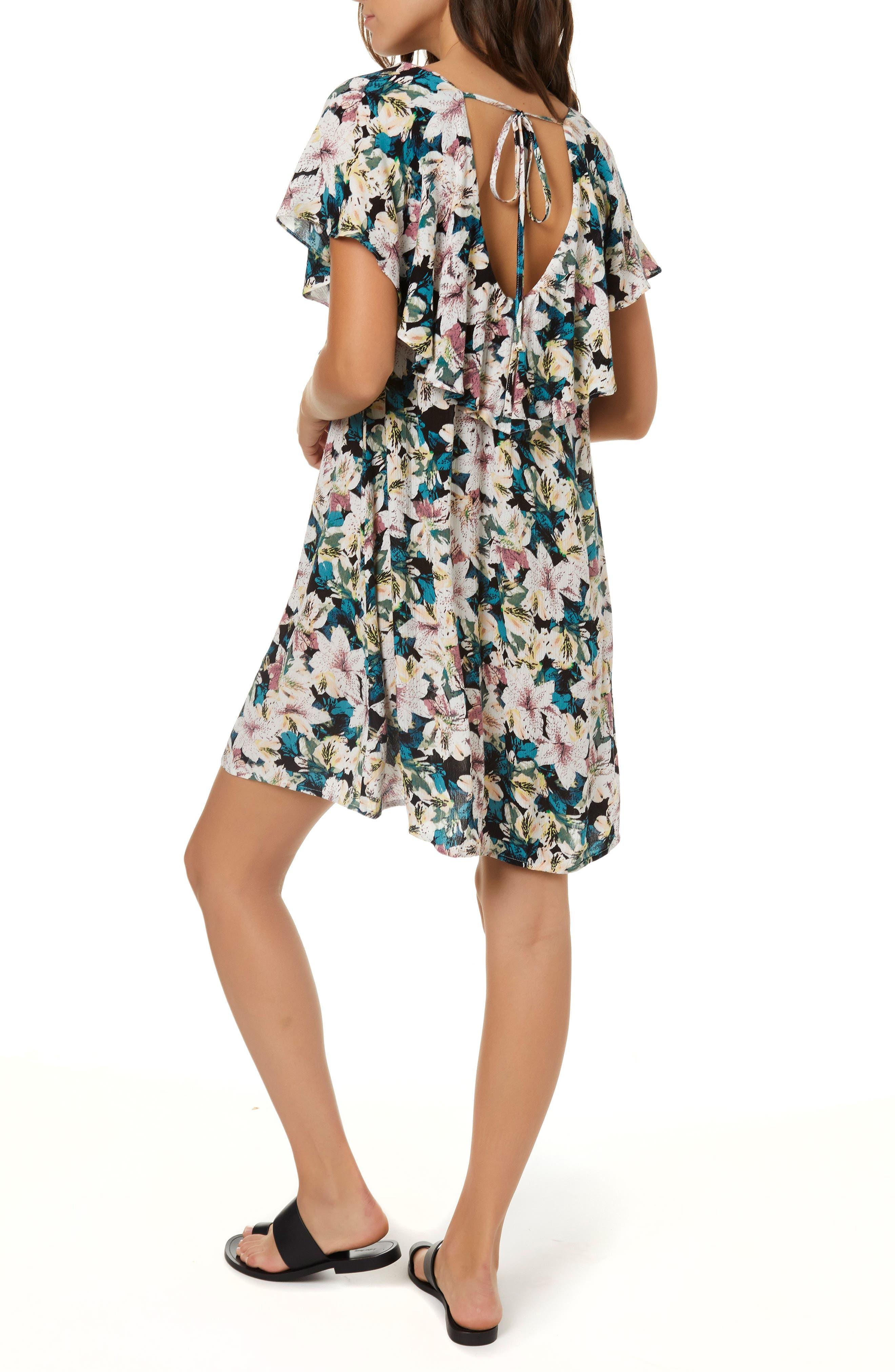 Miran Floral Print Woven Dress,                             Alternate thumbnail 2, color,                             100