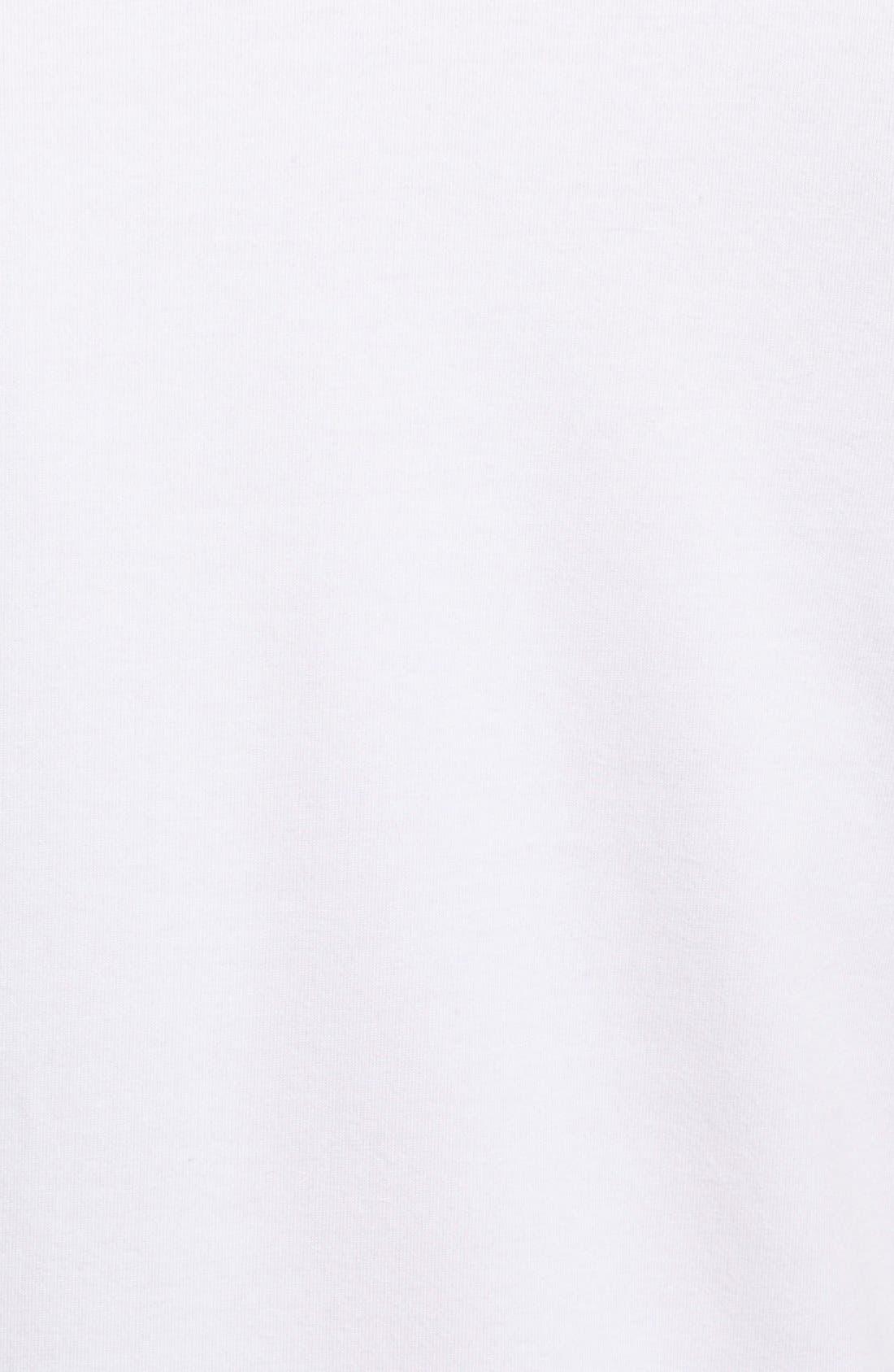 2-Pack Stretch Cotton T-Shirt,                             Alternate thumbnail 5, color,                             WHITE