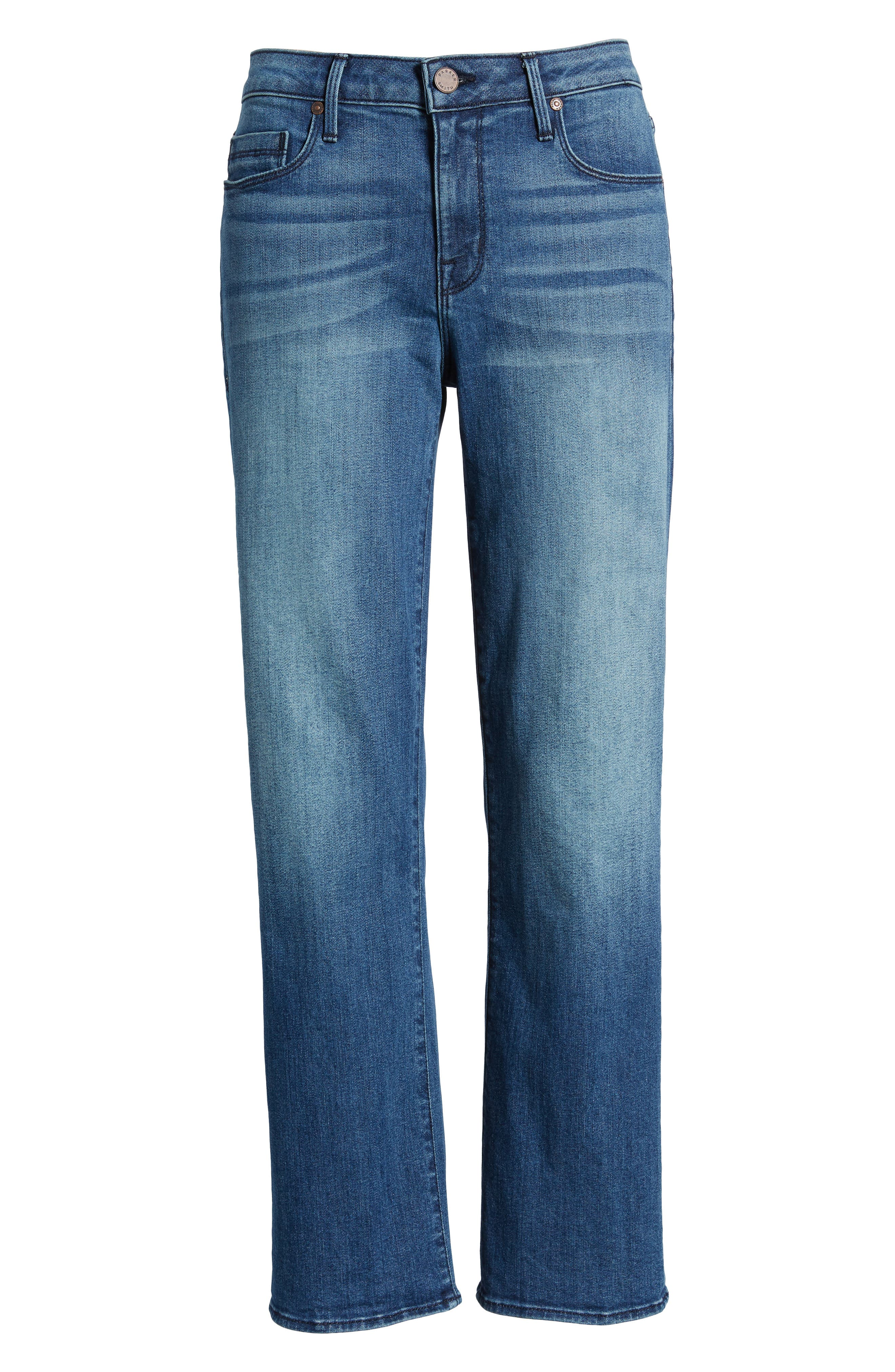 Split Back Crop Jeans,                             Alternate thumbnail 7, color,