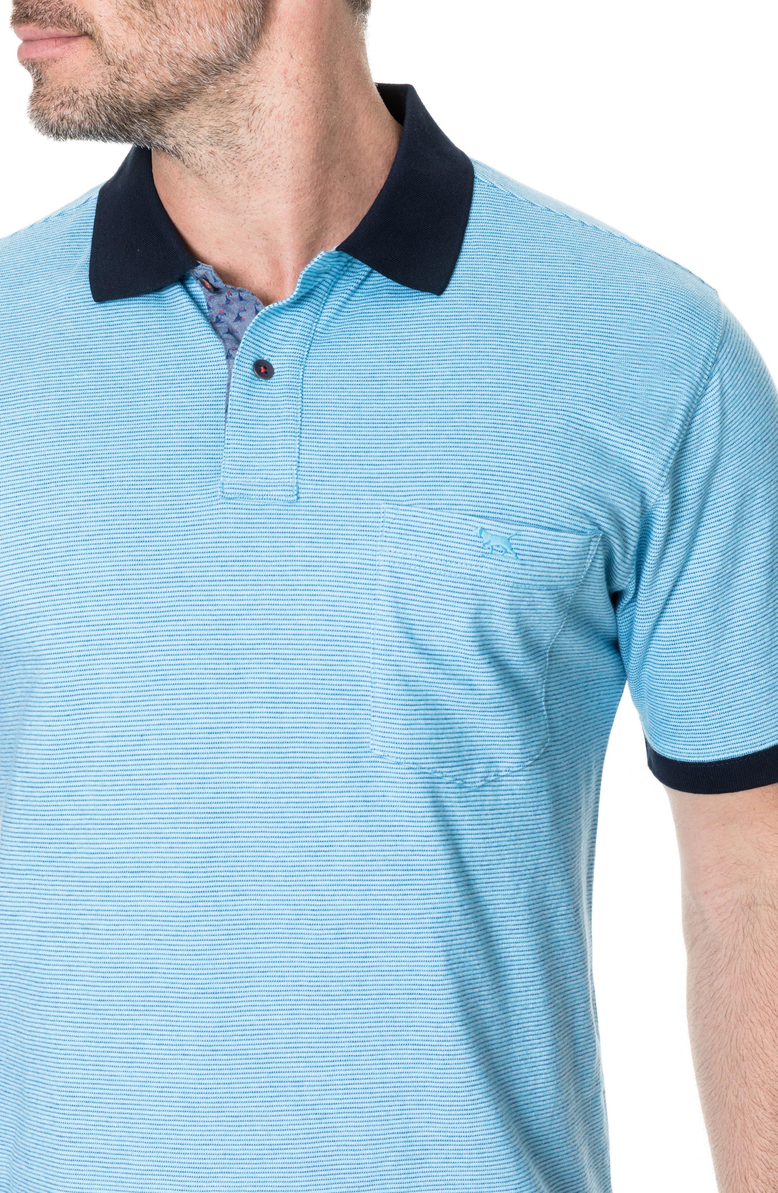 Sedgebrook Regular Fit Polo,                             Alternate thumbnail 3, color,                             AQUA