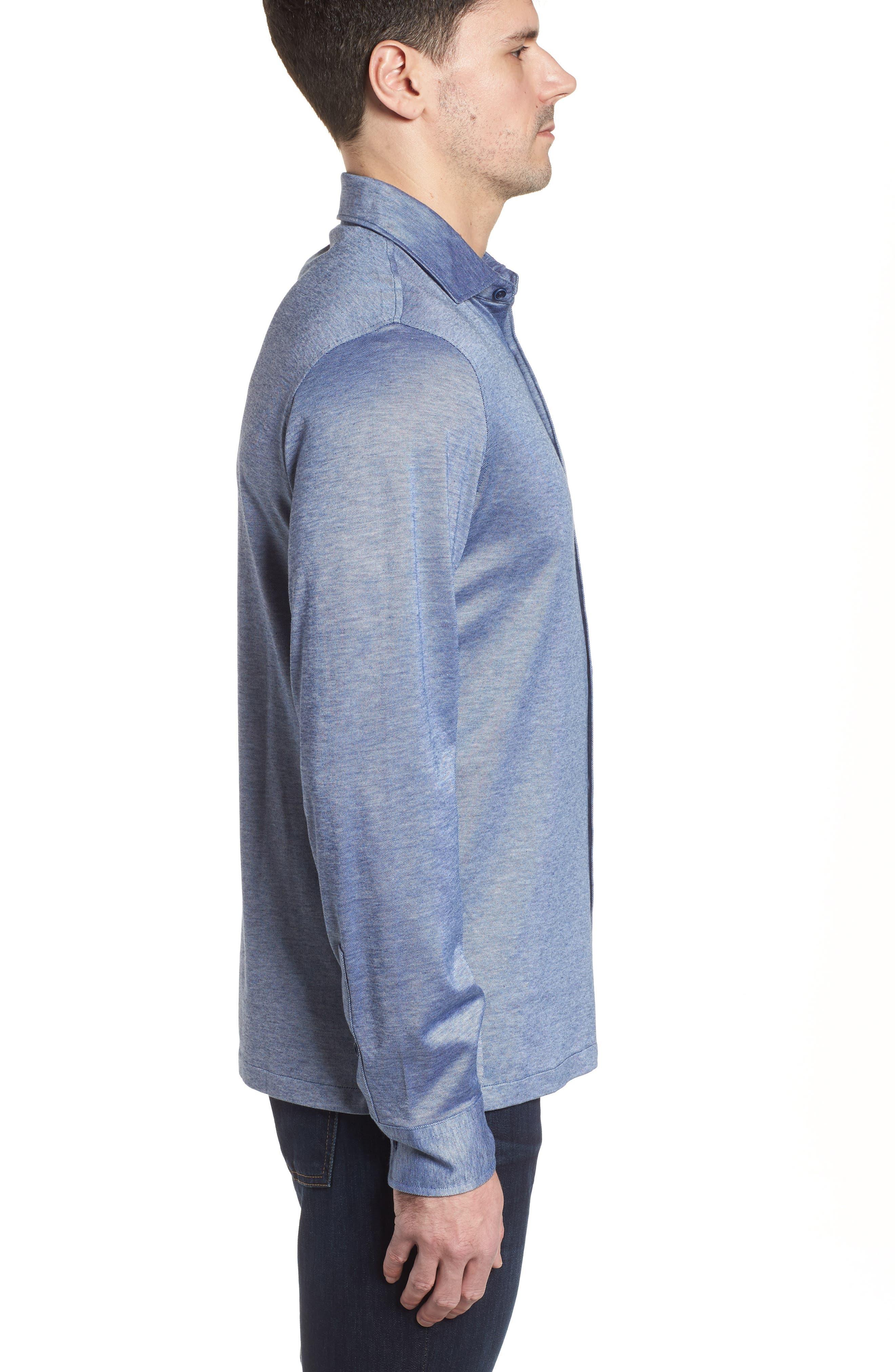 Regular Fit Silk Blend Sport Shirt,                             Alternate thumbnail 13, color,