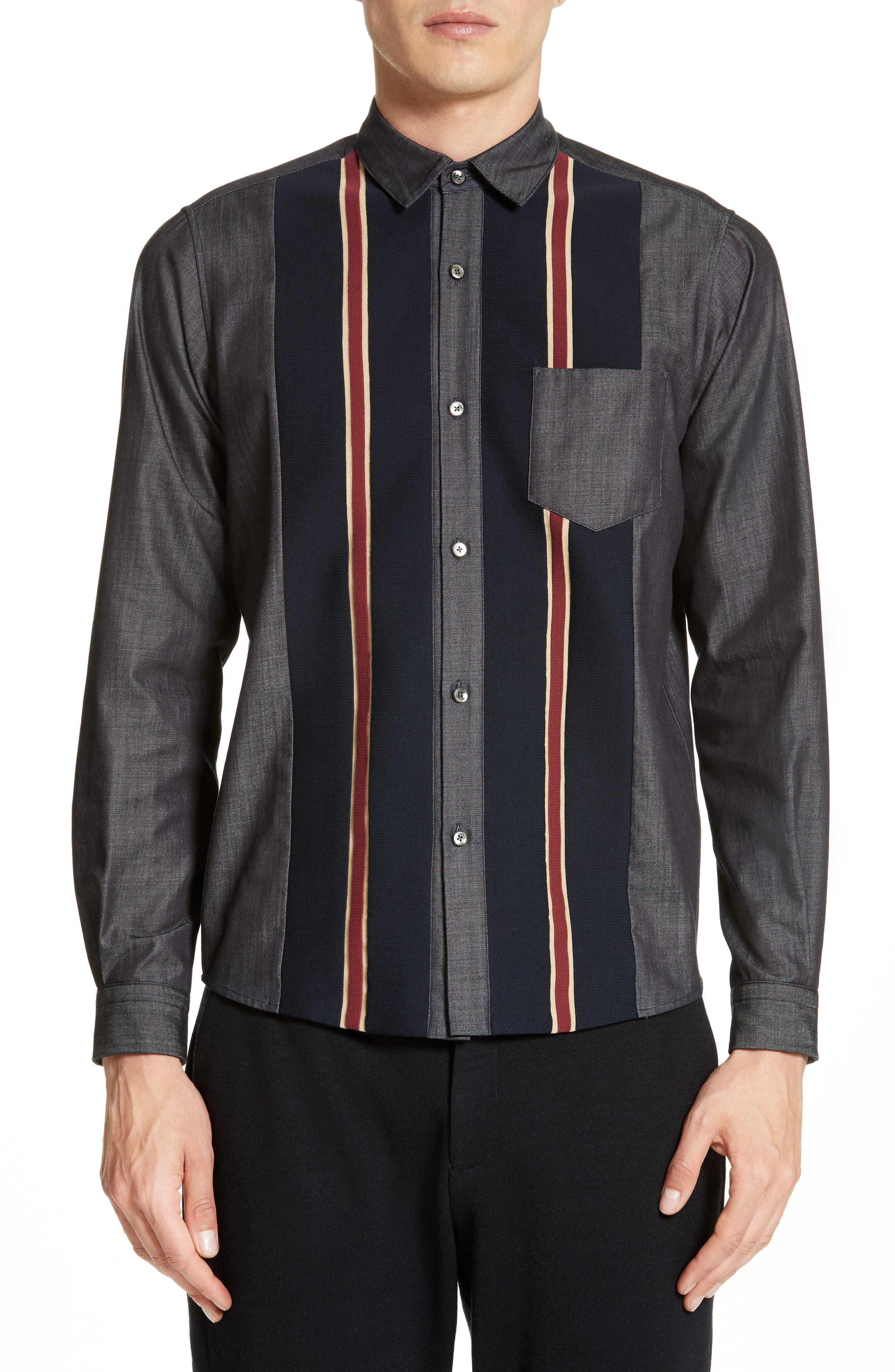 Tricot Stripe Sport Shirt,                             Main thumbnail 1, color,                             400