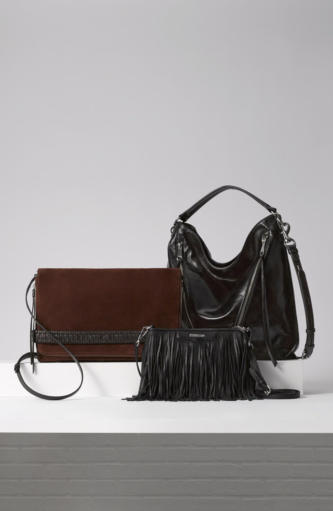 'Finn' Convertible Leather Clutch,                         Main,                         color, 100