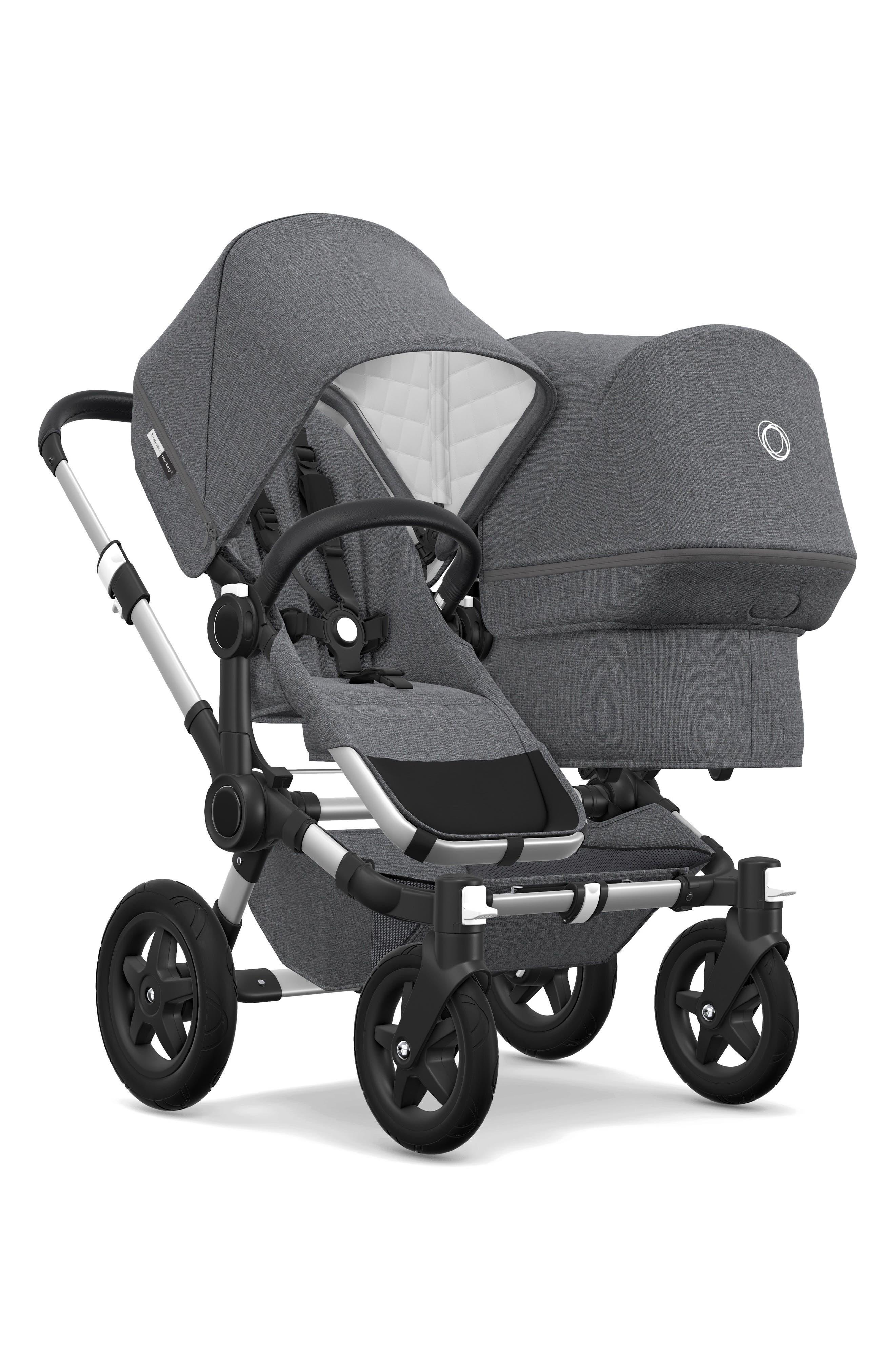 BUGABOO,                             Frame Seat Extension for Donkey2 Stroller,                             Alternate thumbnail 2, color,                             GREY MELANGE/ ALUMINUM