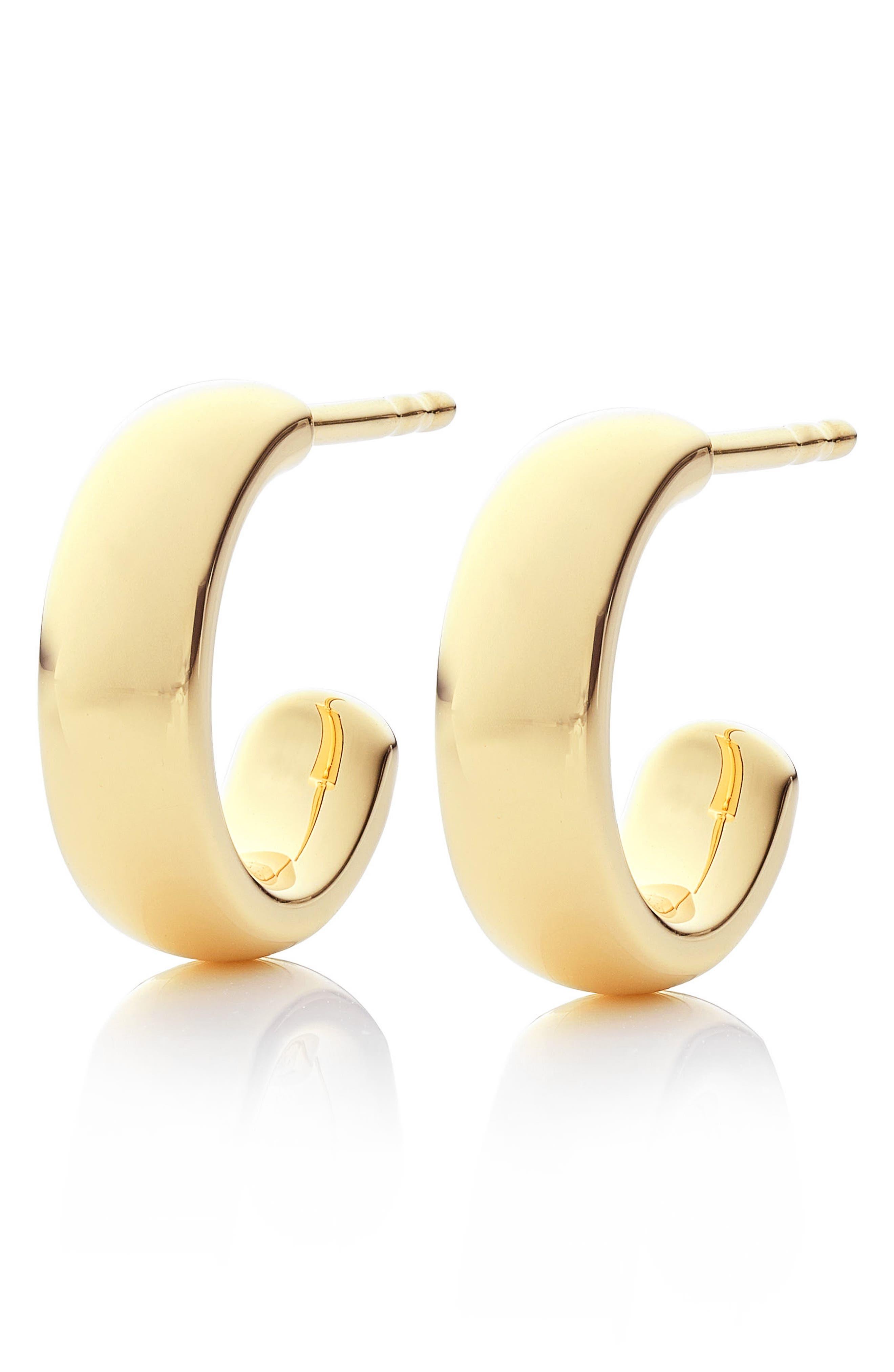 Fiji Mini Hoop Earrings,                             Alternate thumbnail 4, color,                             GOLD