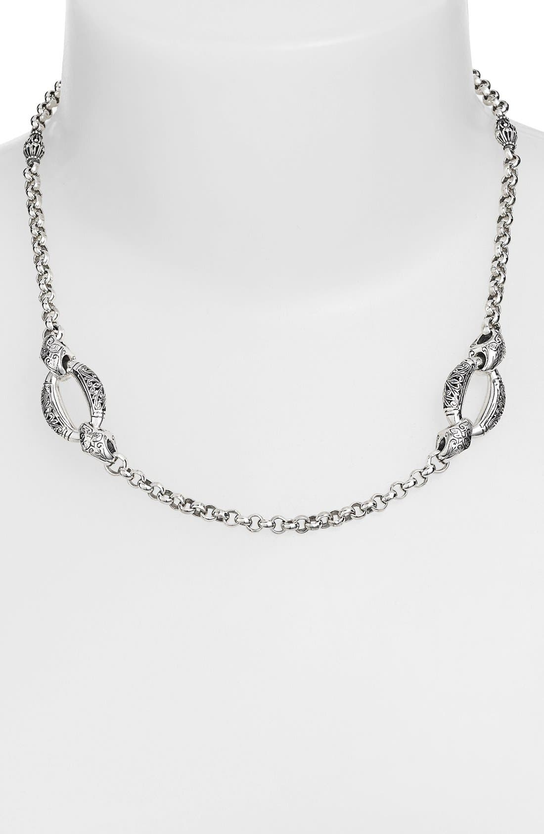'Classics - Daphne' Link Necklace,                         Main,                         color, SILVER