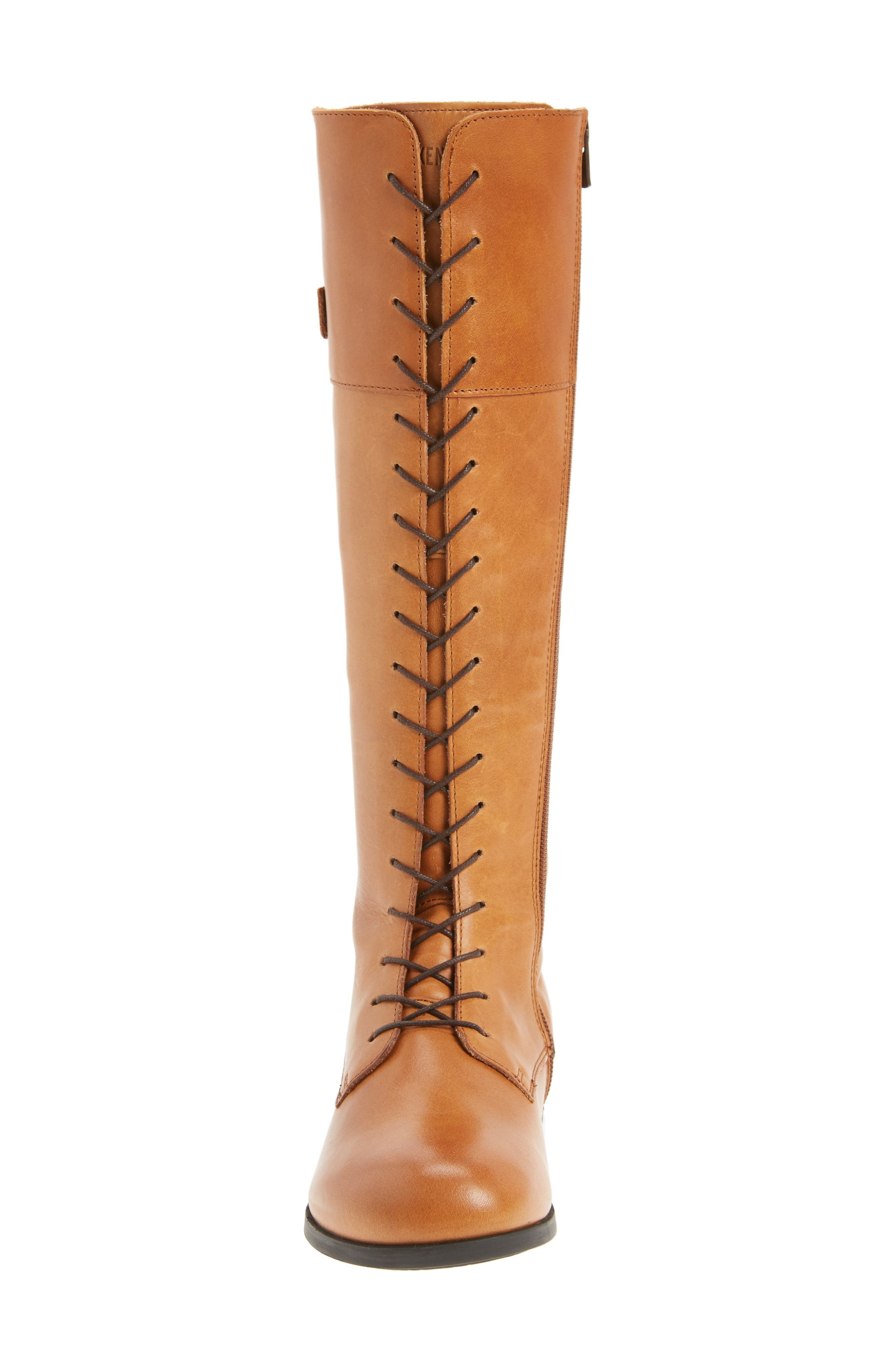 Longford Knee-High Lace-Up Boot,                             Alternate thumbnail 4, color,                             200