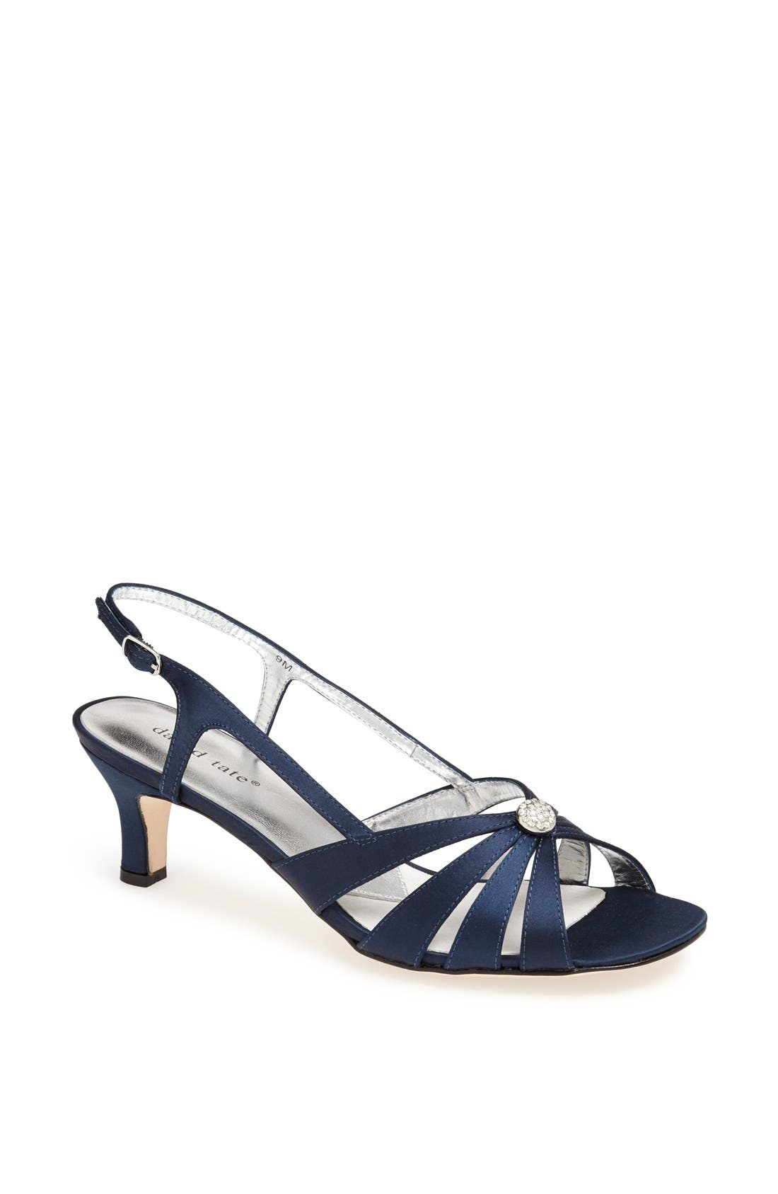'Rosette' Sandal,                         Main,                         color, NAVY