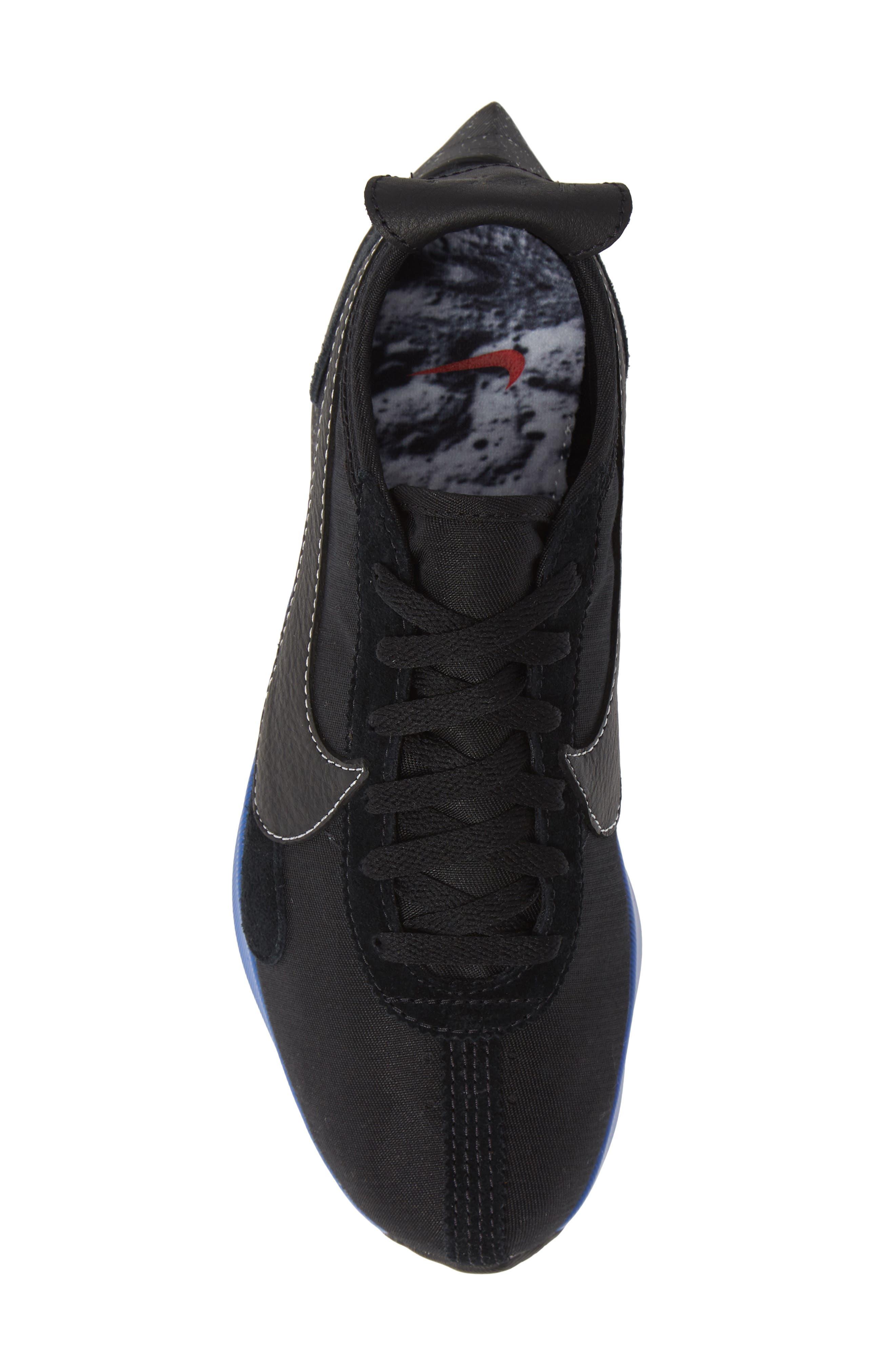 NIKE,                             Moon Racer QS Sneaker,                             Alternate thumbnail 5, color,                             001