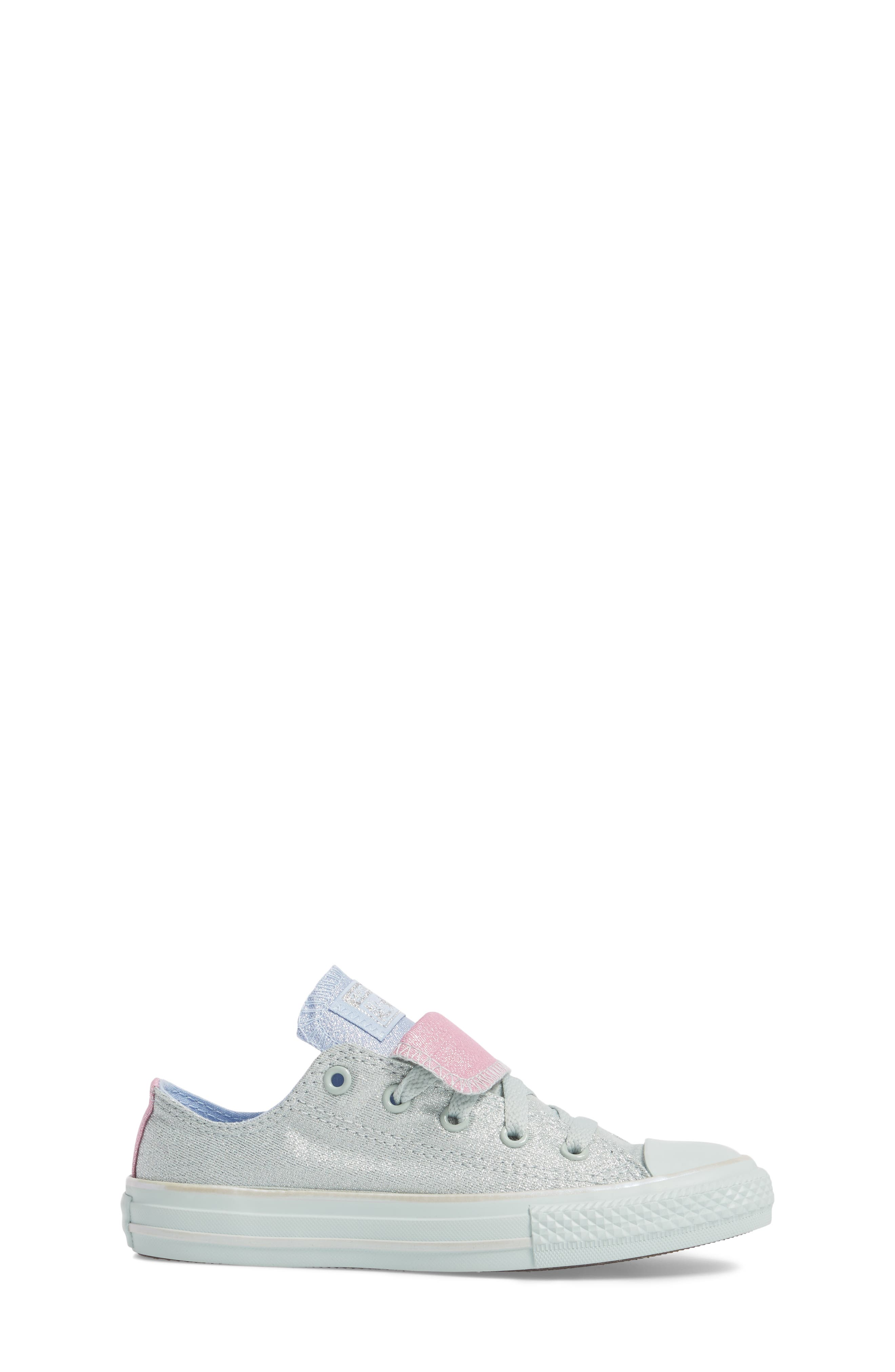 All Star<sup>®</sup> Shimmer Double Tongue Sneaker,                             Alternate thumbnail 3, color,                             301