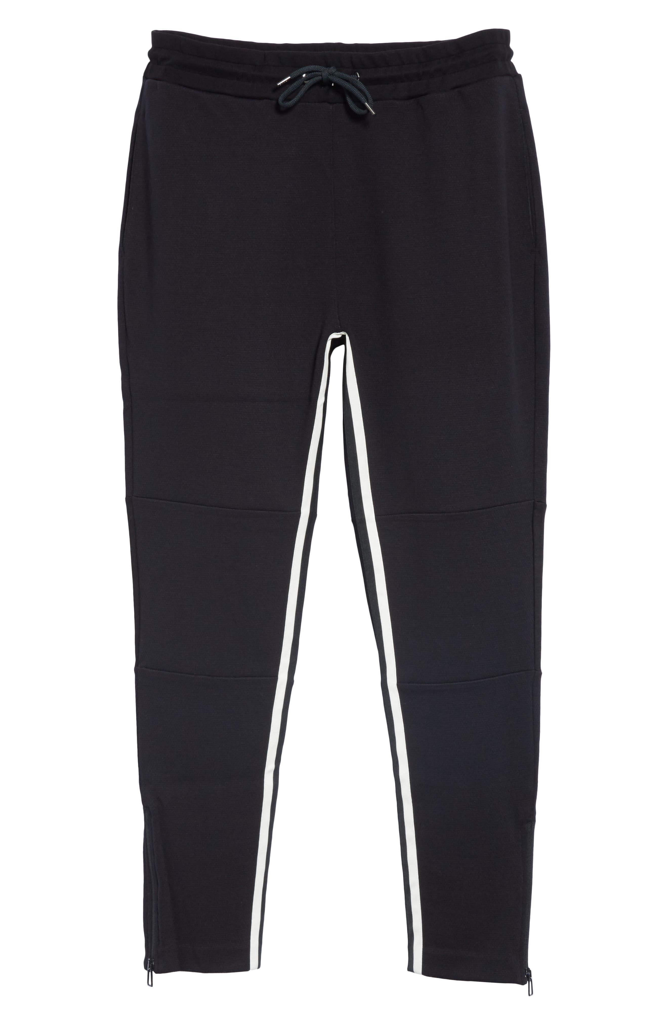 Stripe Jogger Pants,                             Alternate thumbnail 6, color,                             BLACK