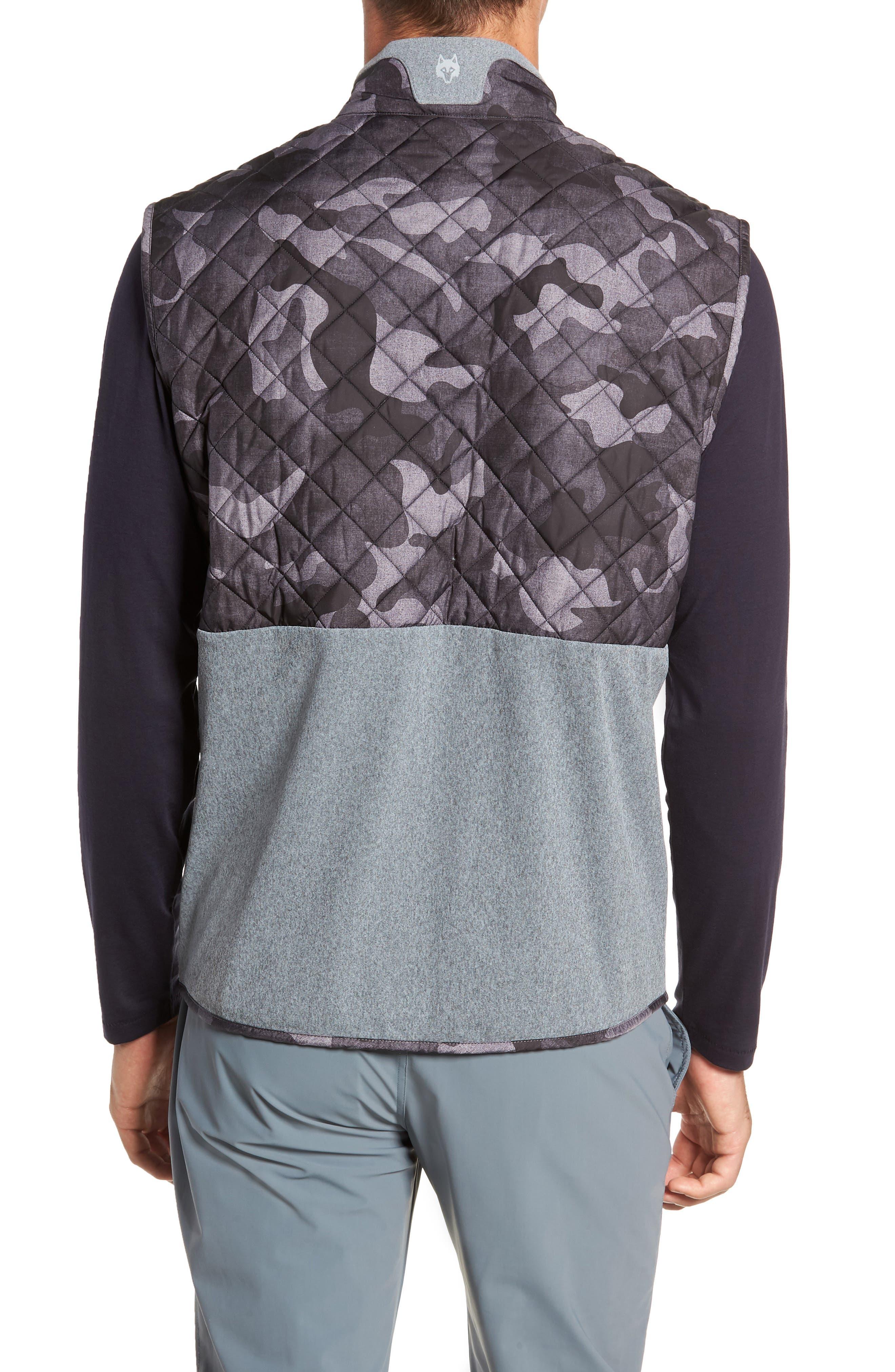 Huron Hybrid Vest,                             Alternate thumbnail 2, color,                             GREY HEATHER/ GREY CAMO