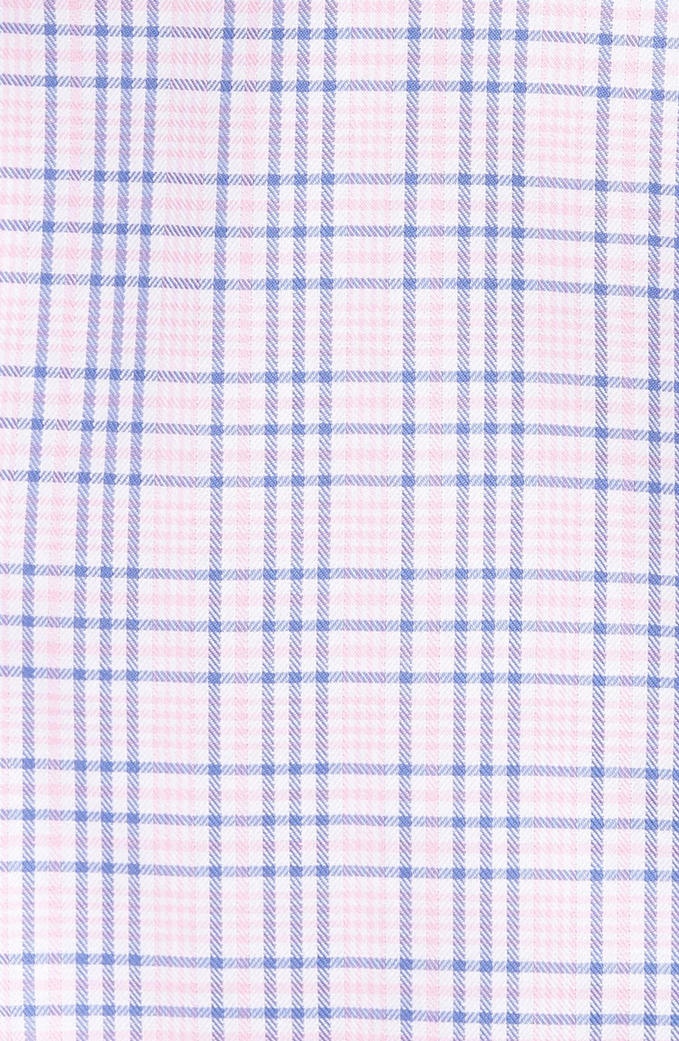 Barry Regular Fit Plaid Sport Shirt,                             Alternate thumbnail 5, color,                             650