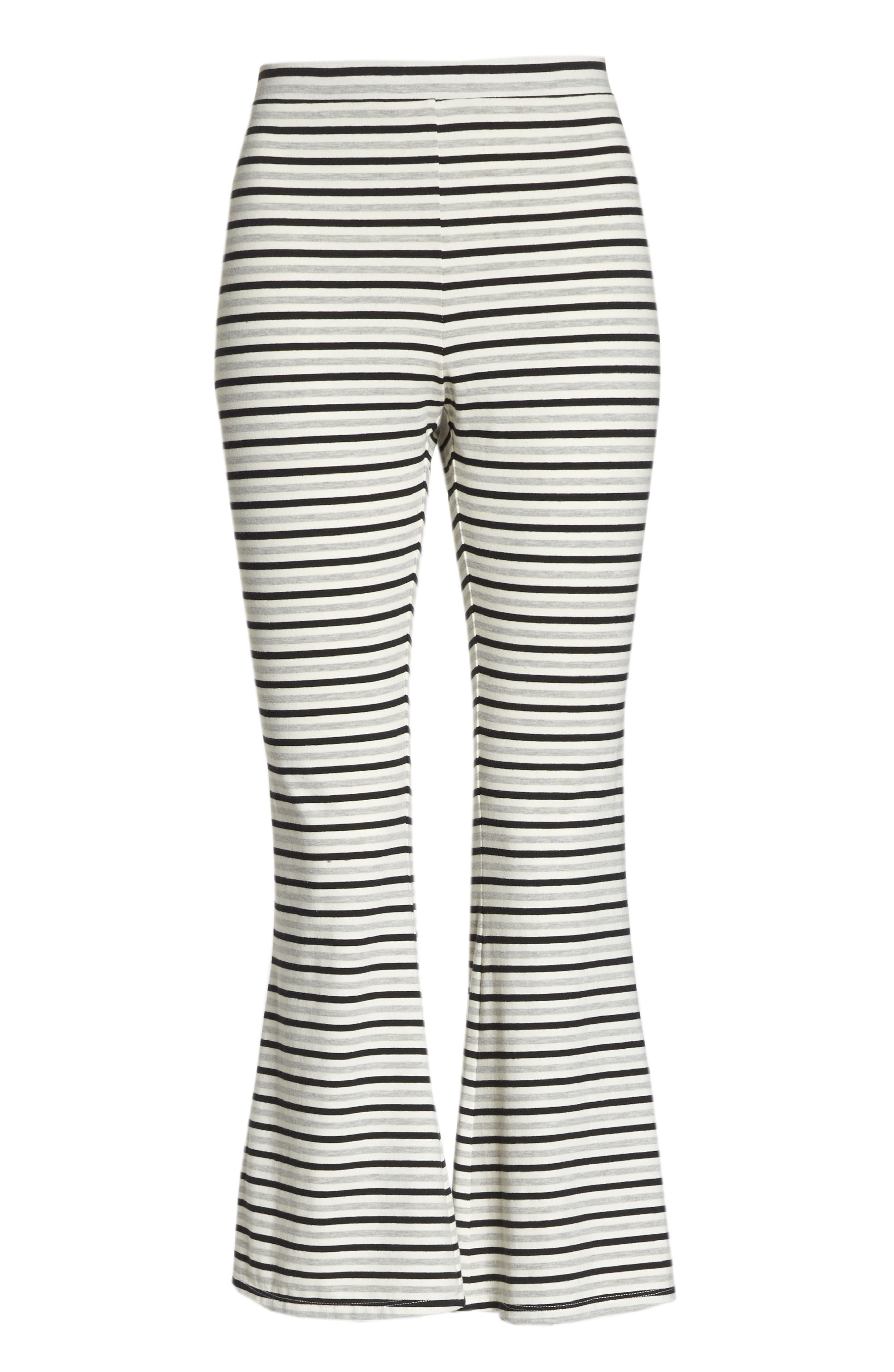 Flare for Drama Crop Lounge Pants,                             Alternate thumbnail 6, color,                             IVORY