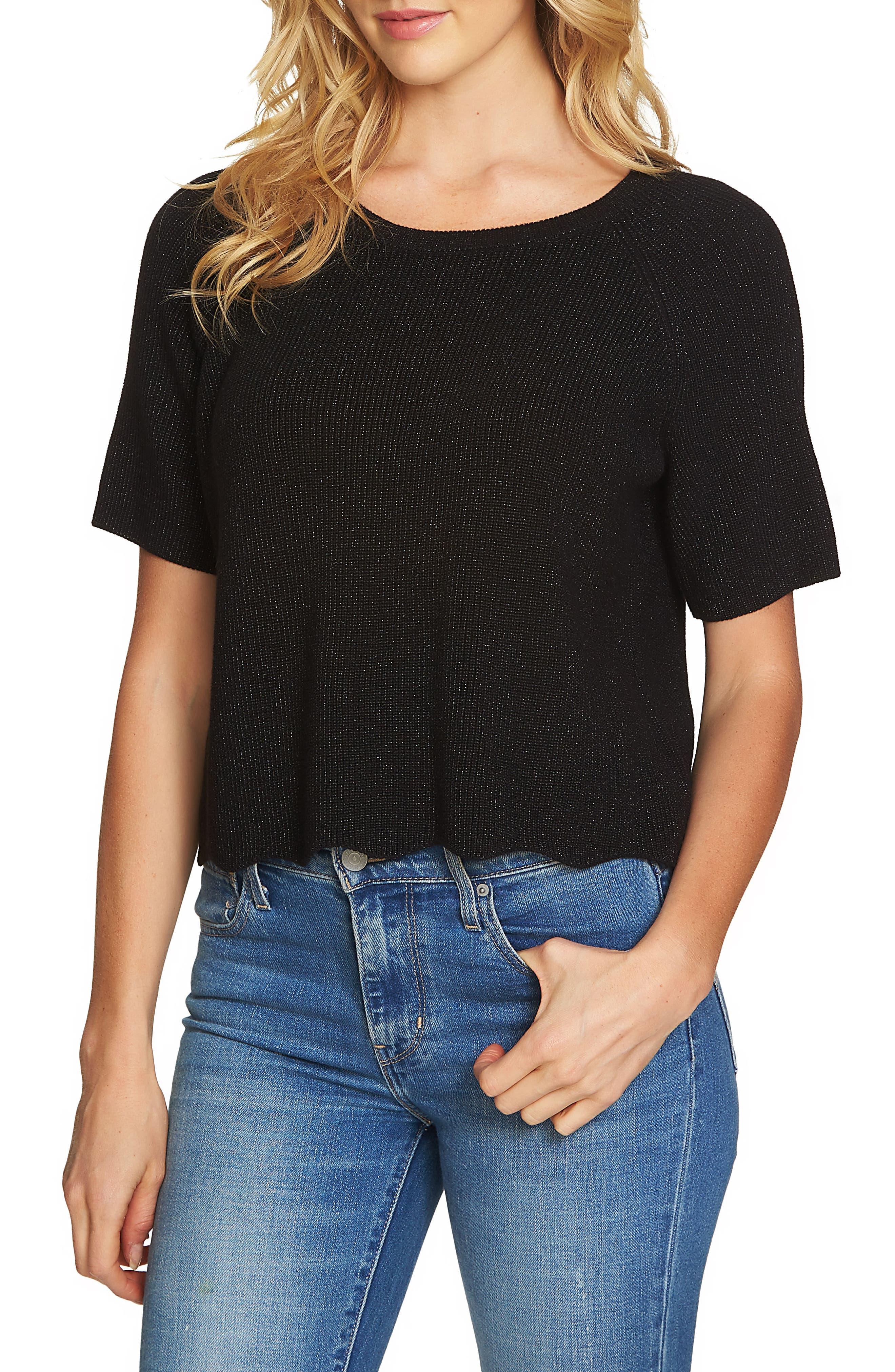 Scallop Hem Sweater, Main, color, 010