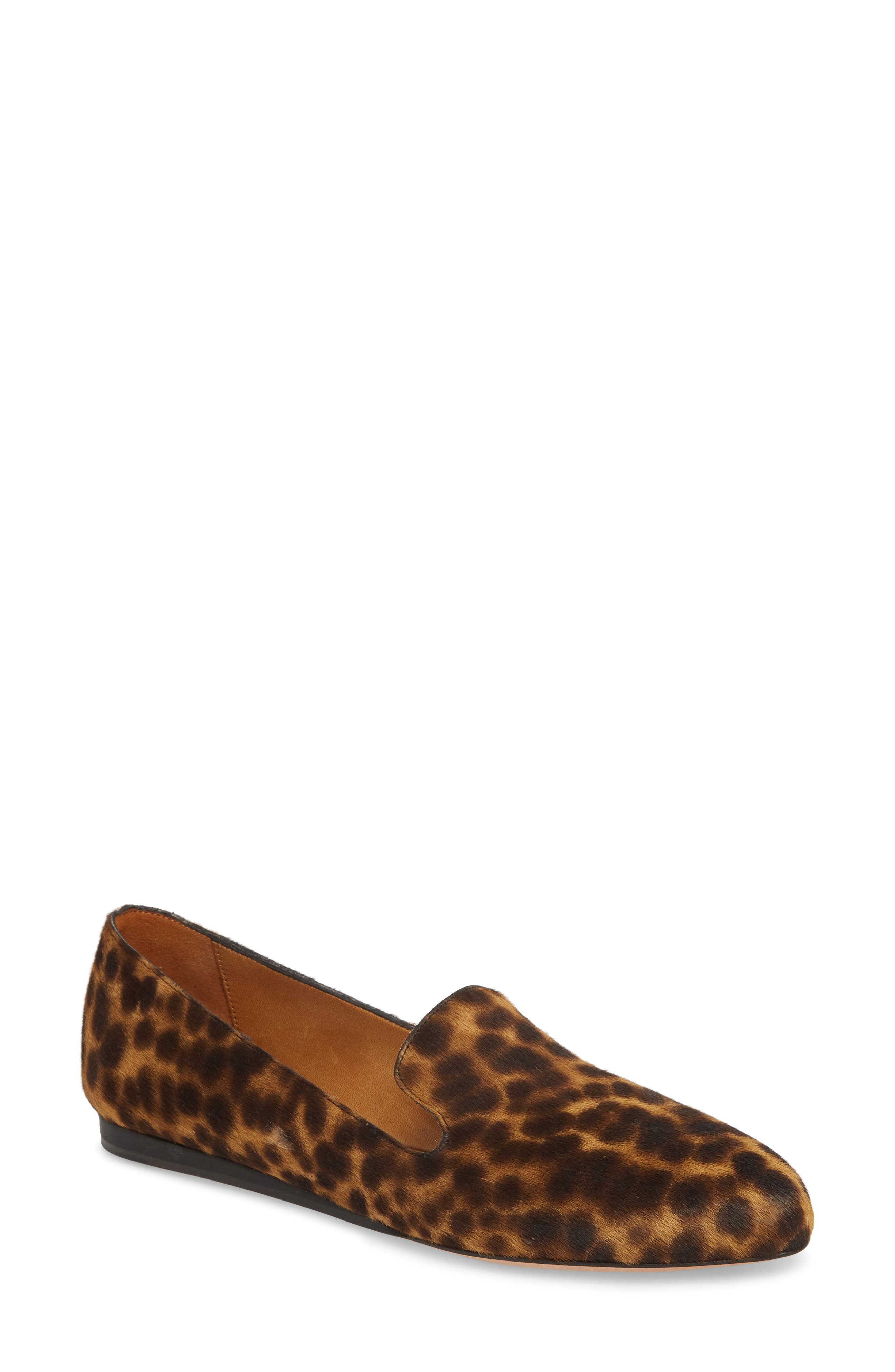 Griffin Genuine Calf Hair Loafer,                             Main thumbnail 1, color,                             LEOPARD