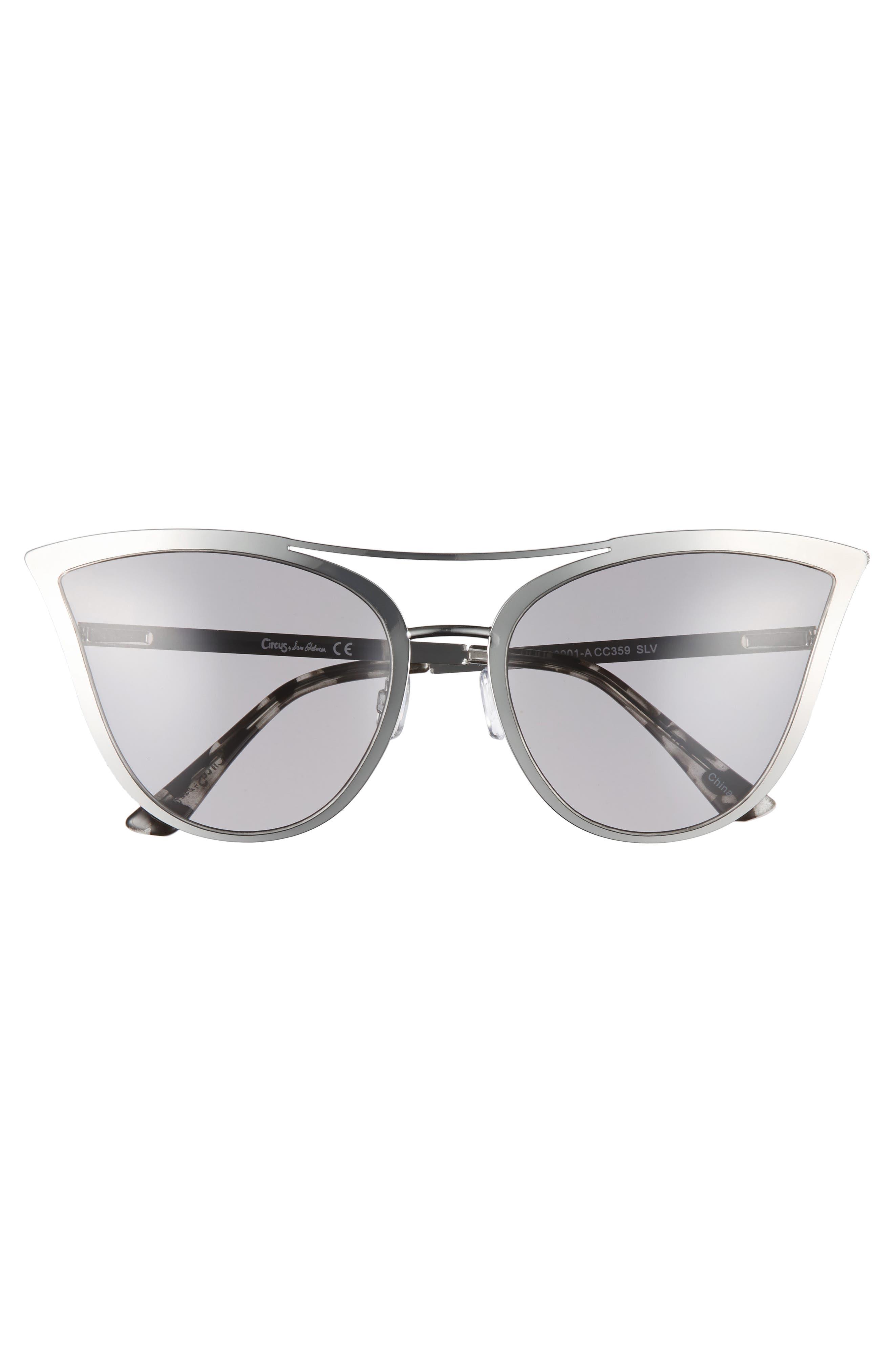 61mm Metal Cat Eye Sunglasses,                             Alternate thumbnail 8, color,
