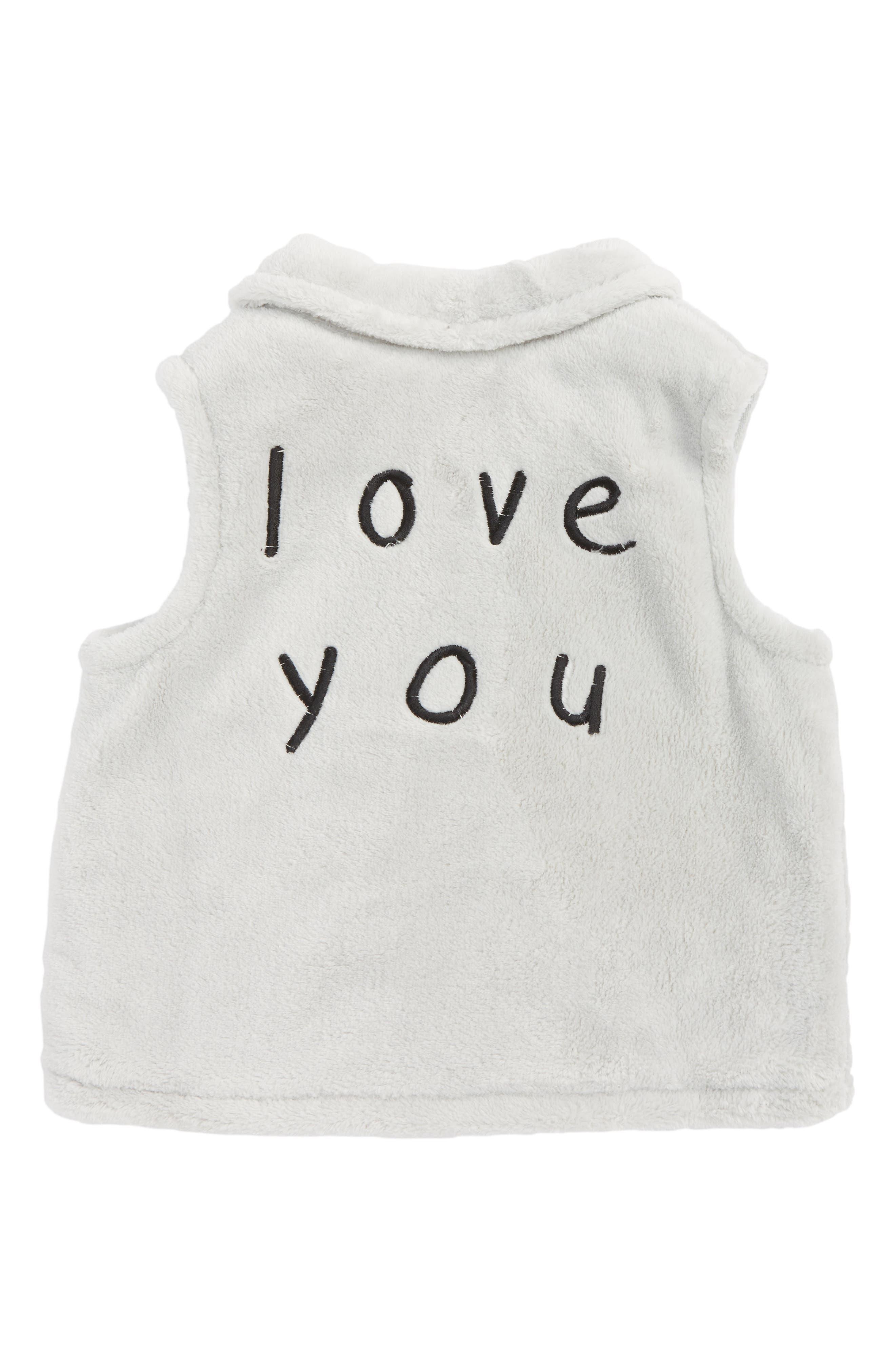 I Love You Fleece Vest,                             Alternate thumbnail 2, color,                             035