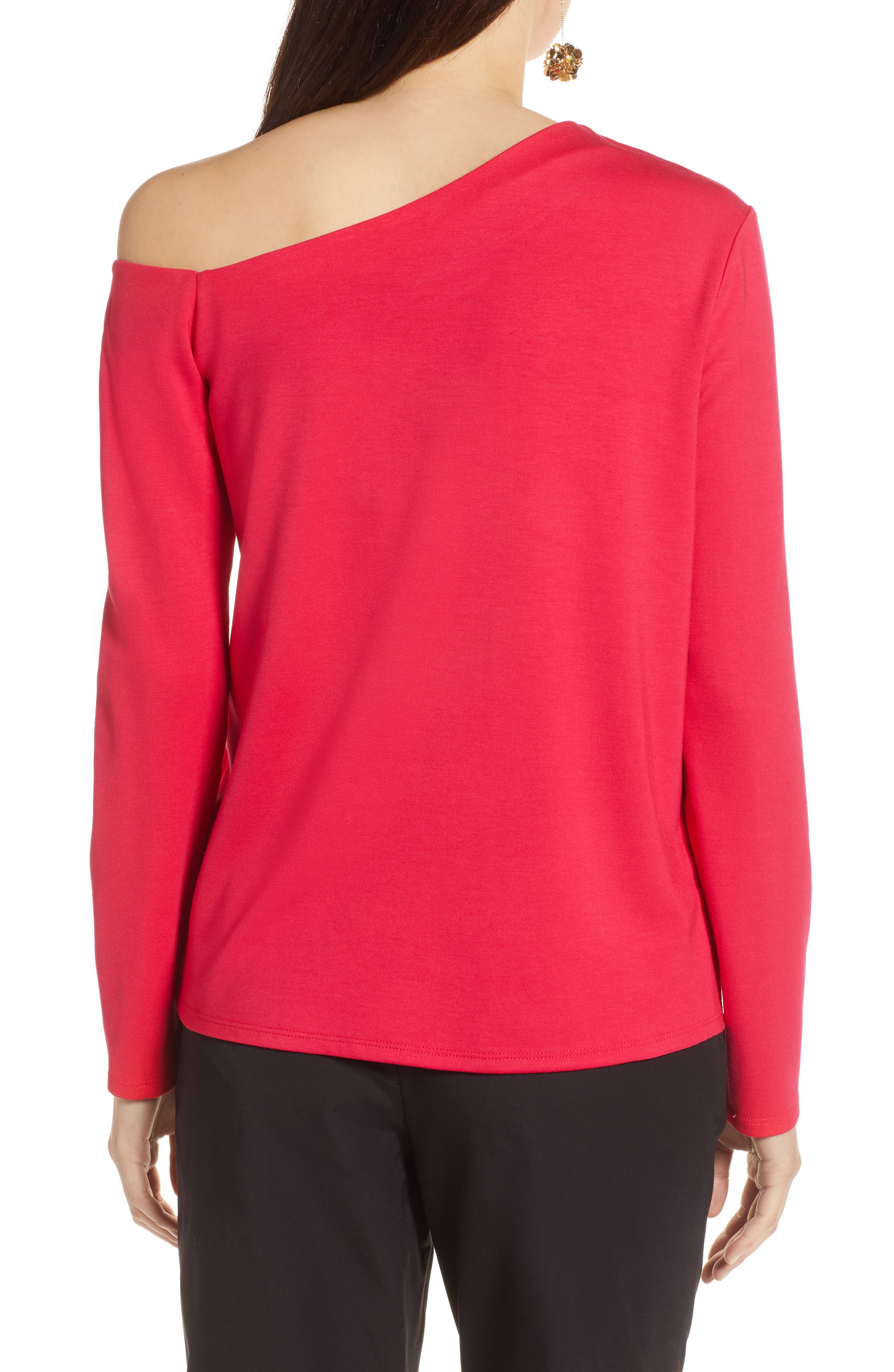 One-Shoulder Knit Tee,                             Alternate thumbnail 9, color,