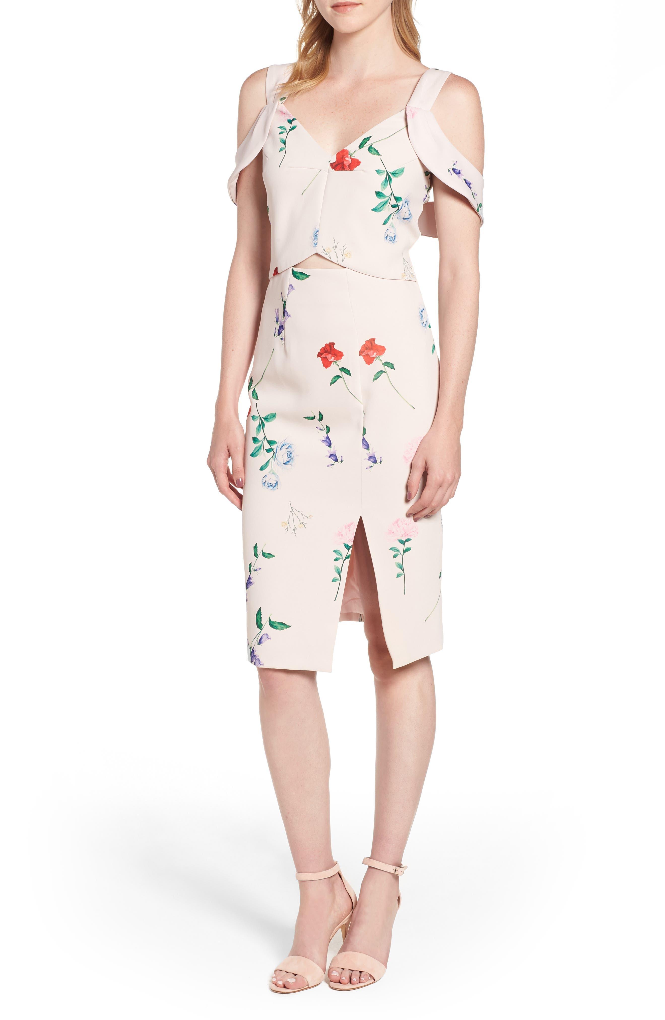 Archibald Cold Shoulder Cutout Detail Dress,                             Main thumbnail 1, color,                             650