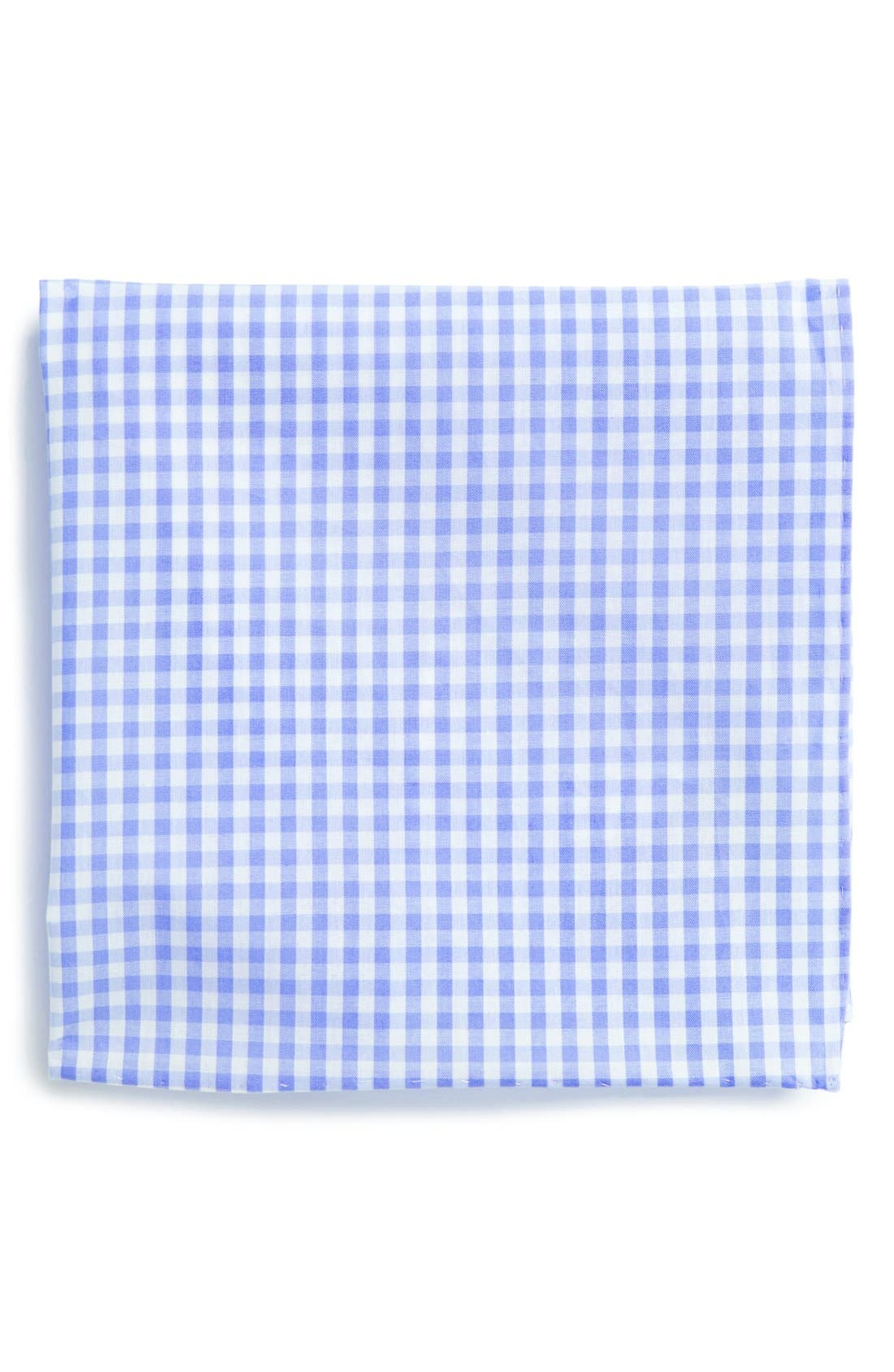 Cotton Gingham Pocket Square,                             Main thumbnail 3, color,