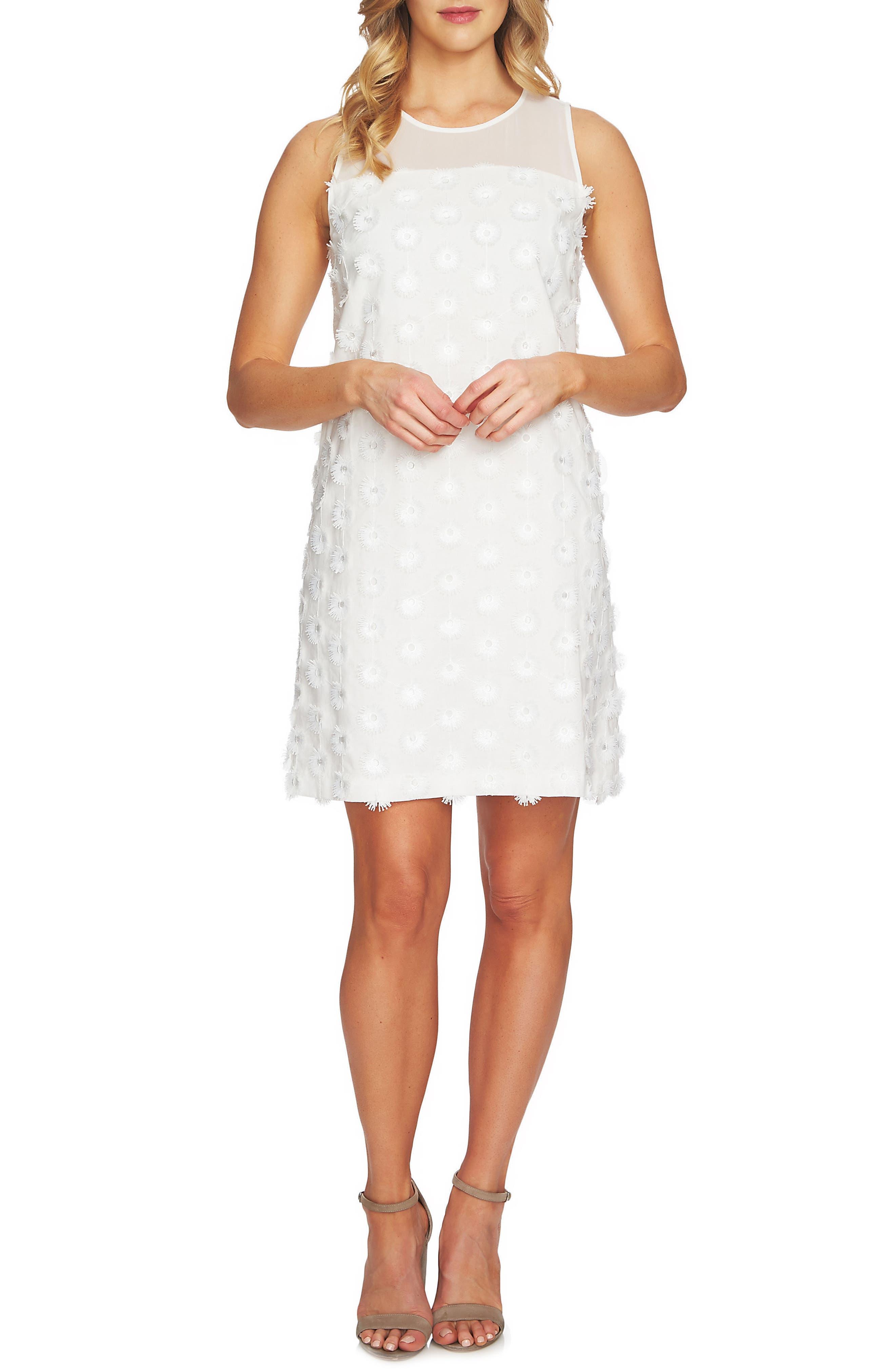 3D Flower Shift Dress,                         Main,                         color, 903