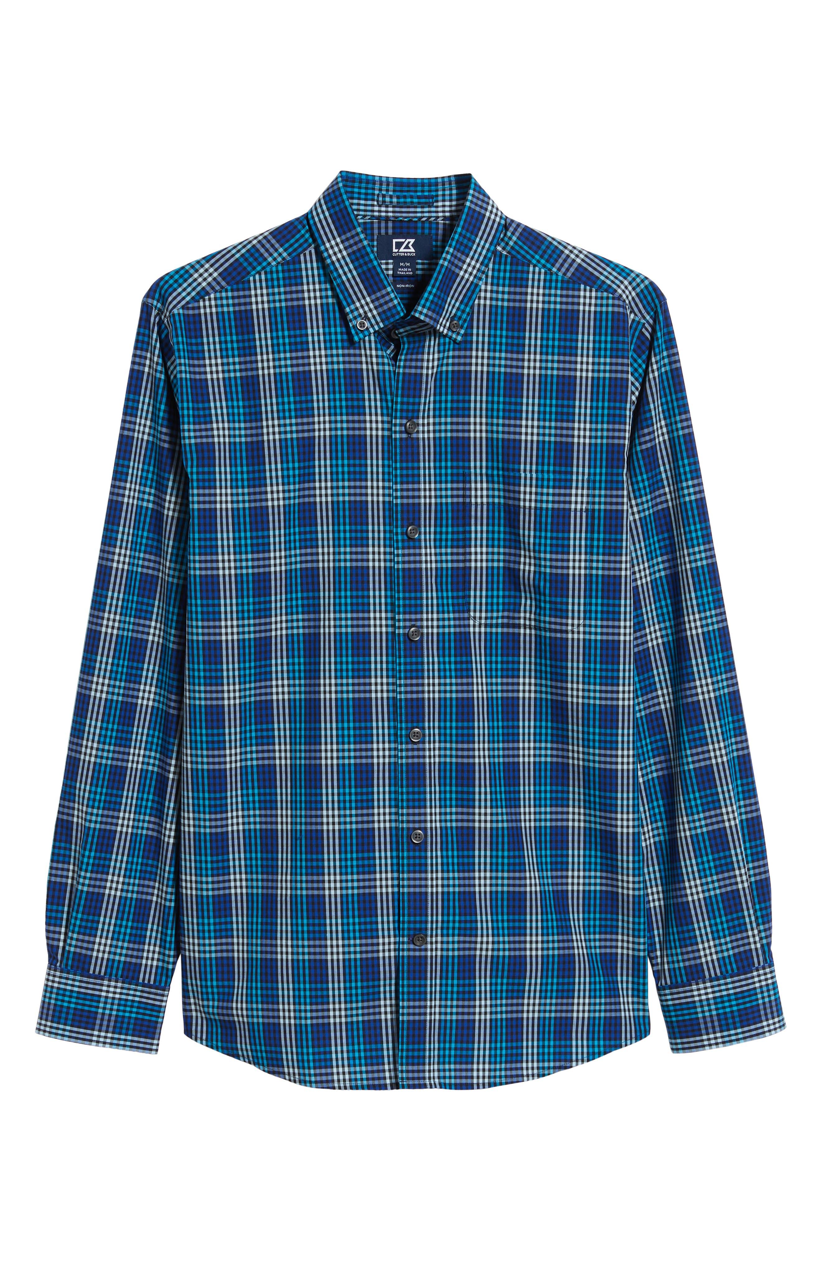 Regular Fit Non-Iron Sport Shirt,                             Alternate thumbnail 5, color,                             ORBIT