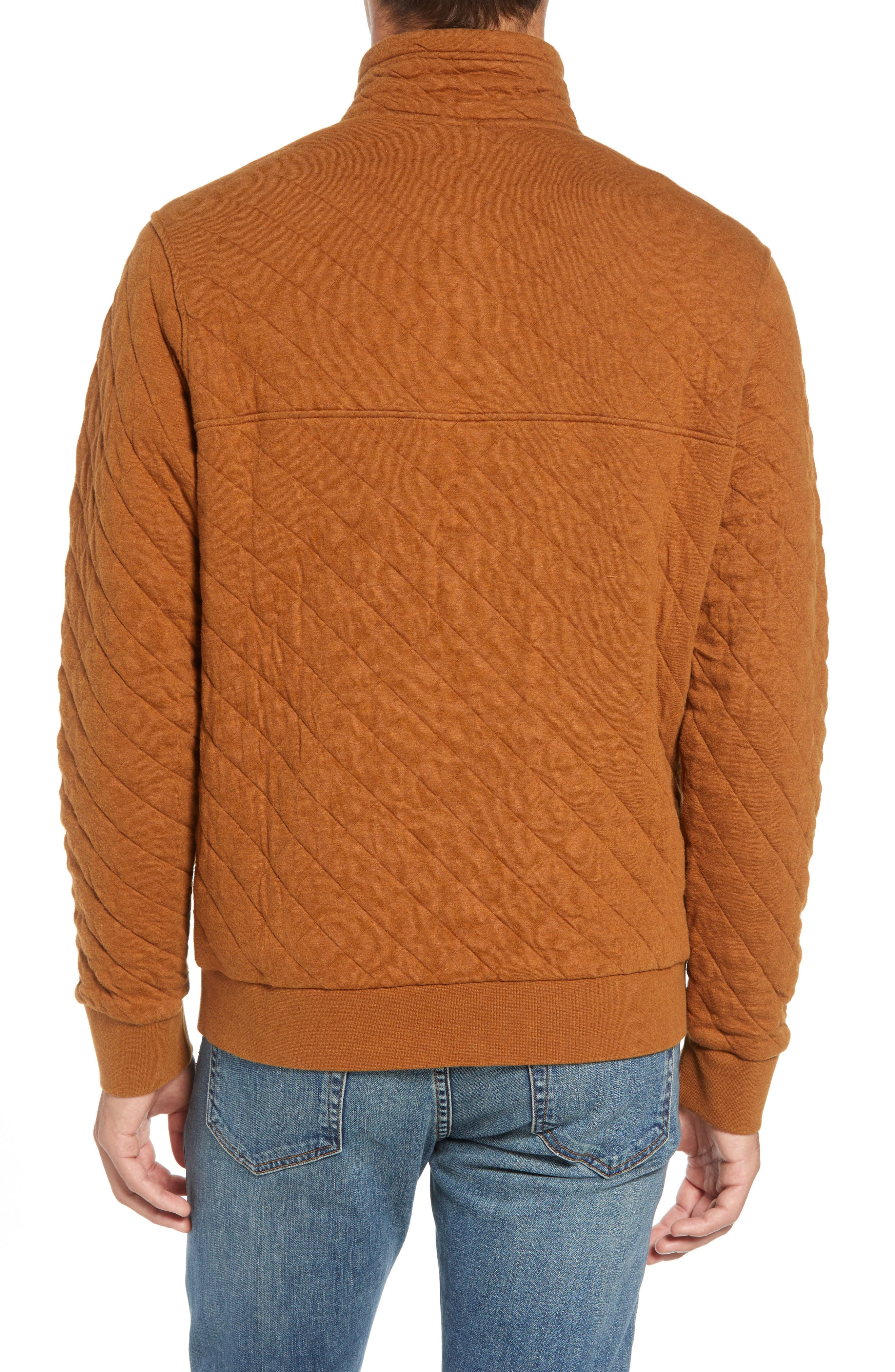 Snap-T<sup>®</sup> Quilted Fleece Pullover,                             Alternate thumbnail 2, color,                             BENCE BROWN